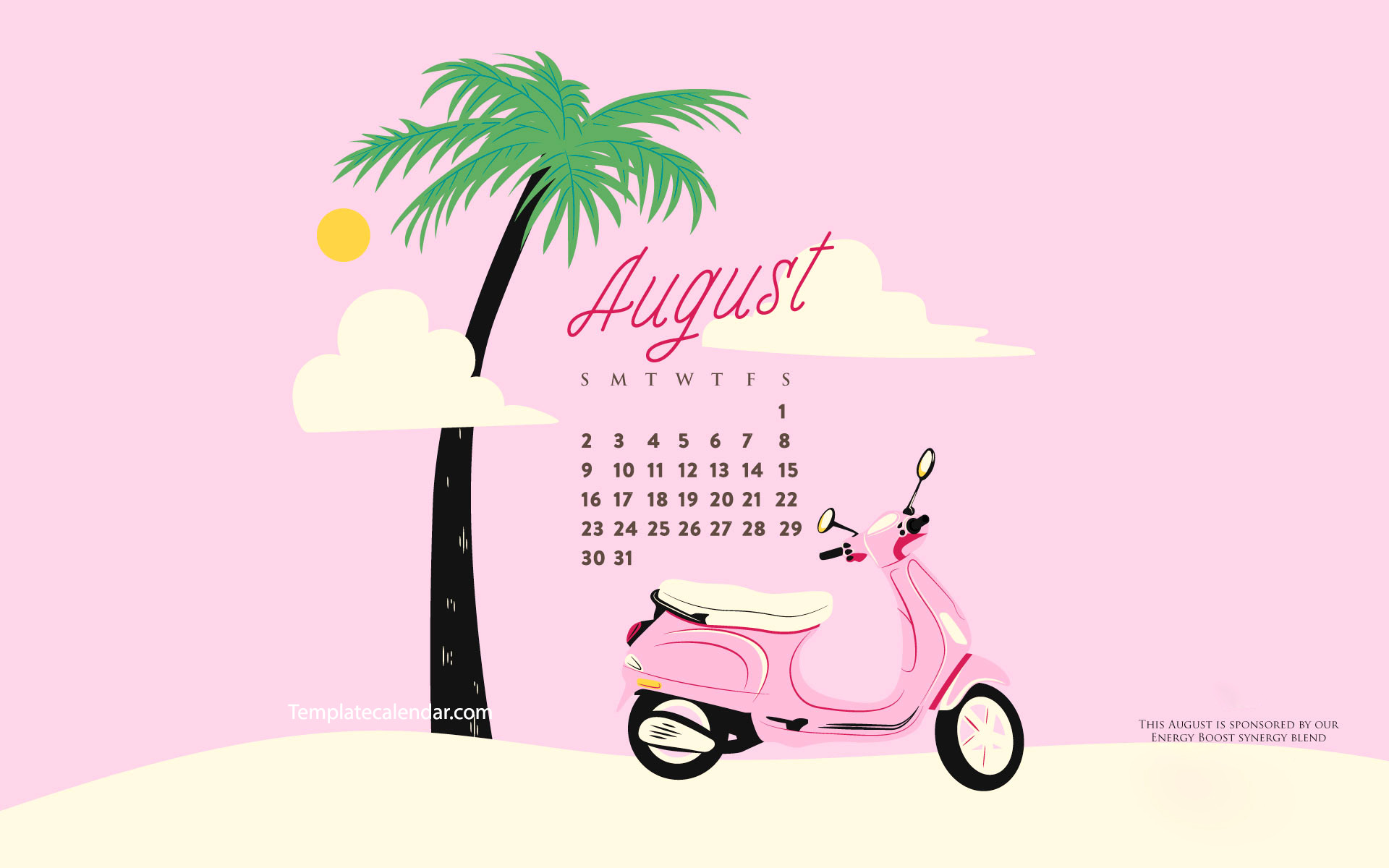 1920x1200 August 2018 Calendar Cute | monthly calendar 2017
