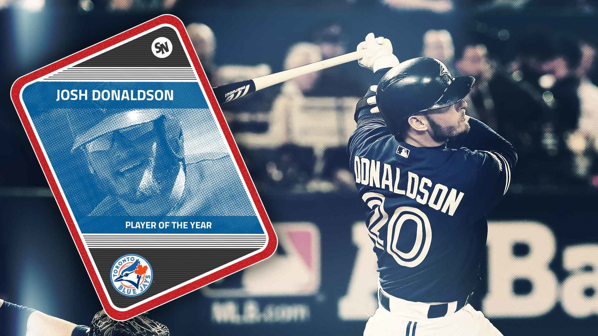 1920x1080 Blue Jays' Josh Donaldson beats Bryce Harper for Sporting News MLB Player  of the Year