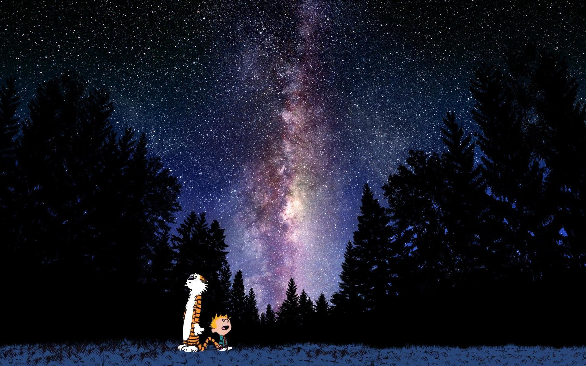 1920x1200 Calvin And Hobbes Looking At Stars Wallpaper |  | ID:35253