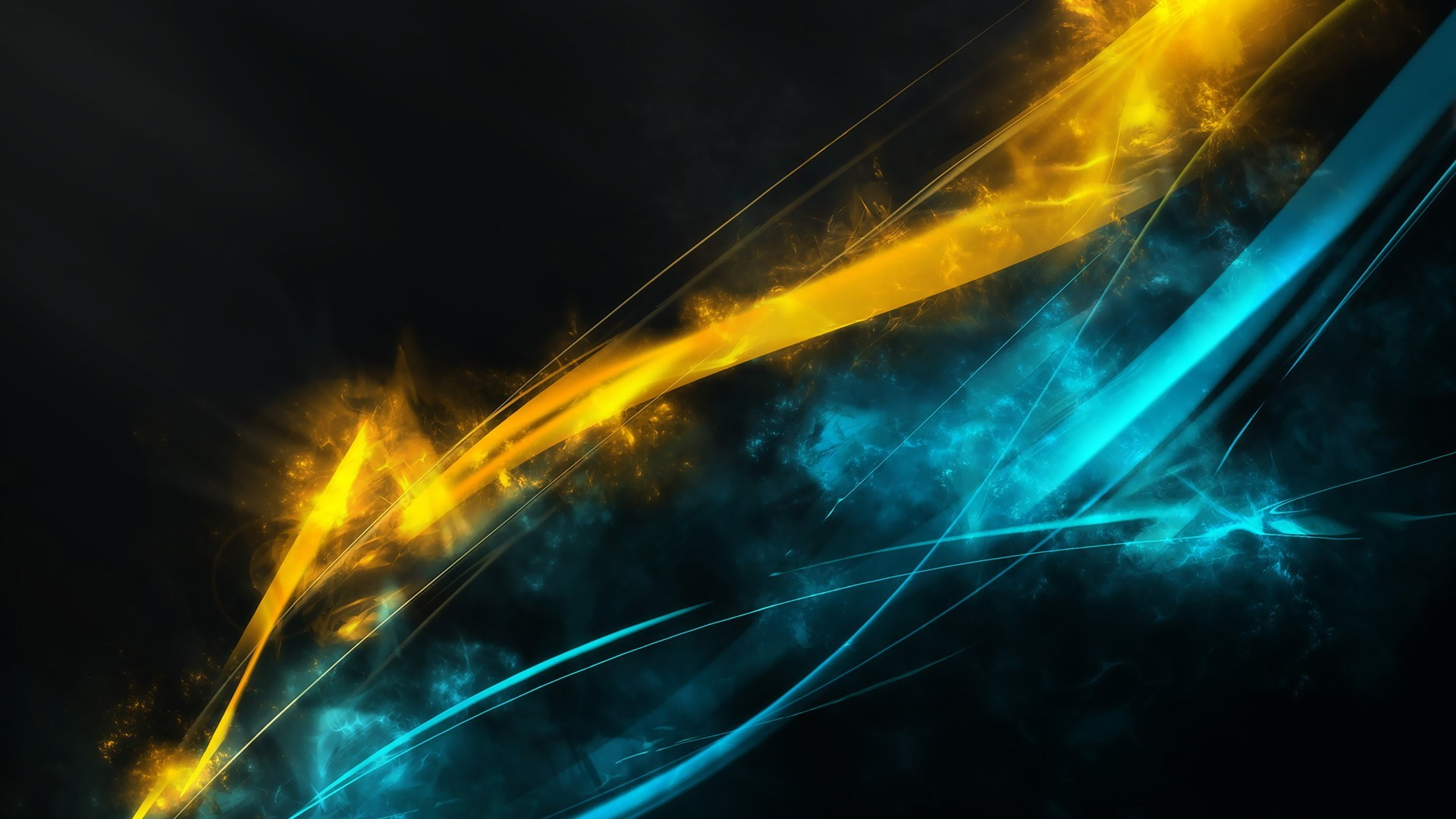 1920x1080 HM.415 Gallery: Blue Yellow Abstract, 239.06 Kb