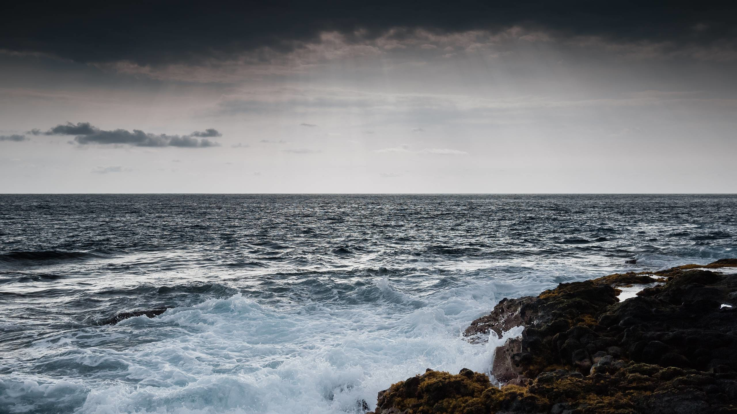 2560x1440 Pix For > Stormy Sea Wallpaper