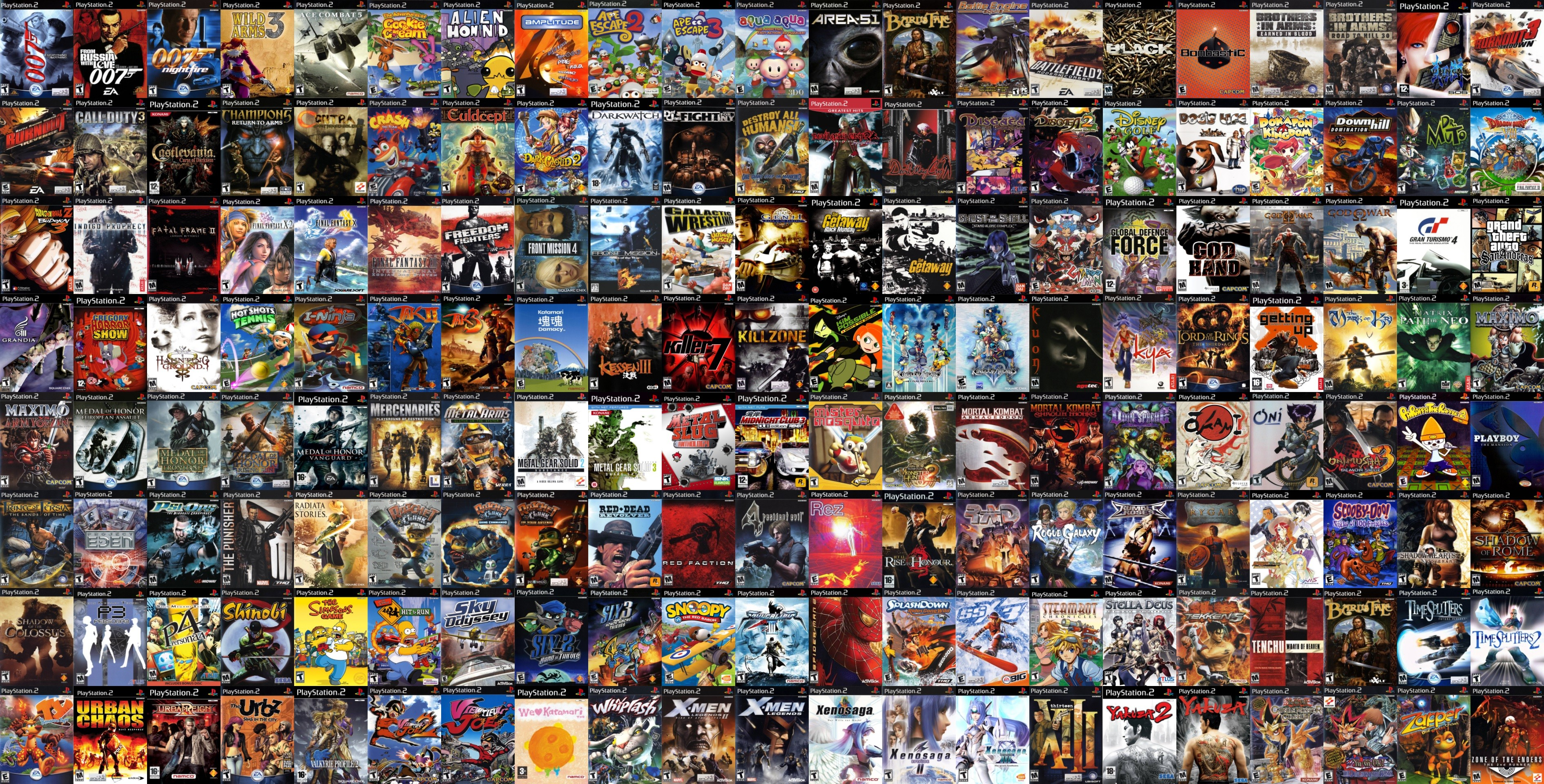 3780x1920 Collage of my favorite PlayStation 2 games (4K Wallpaper) ...