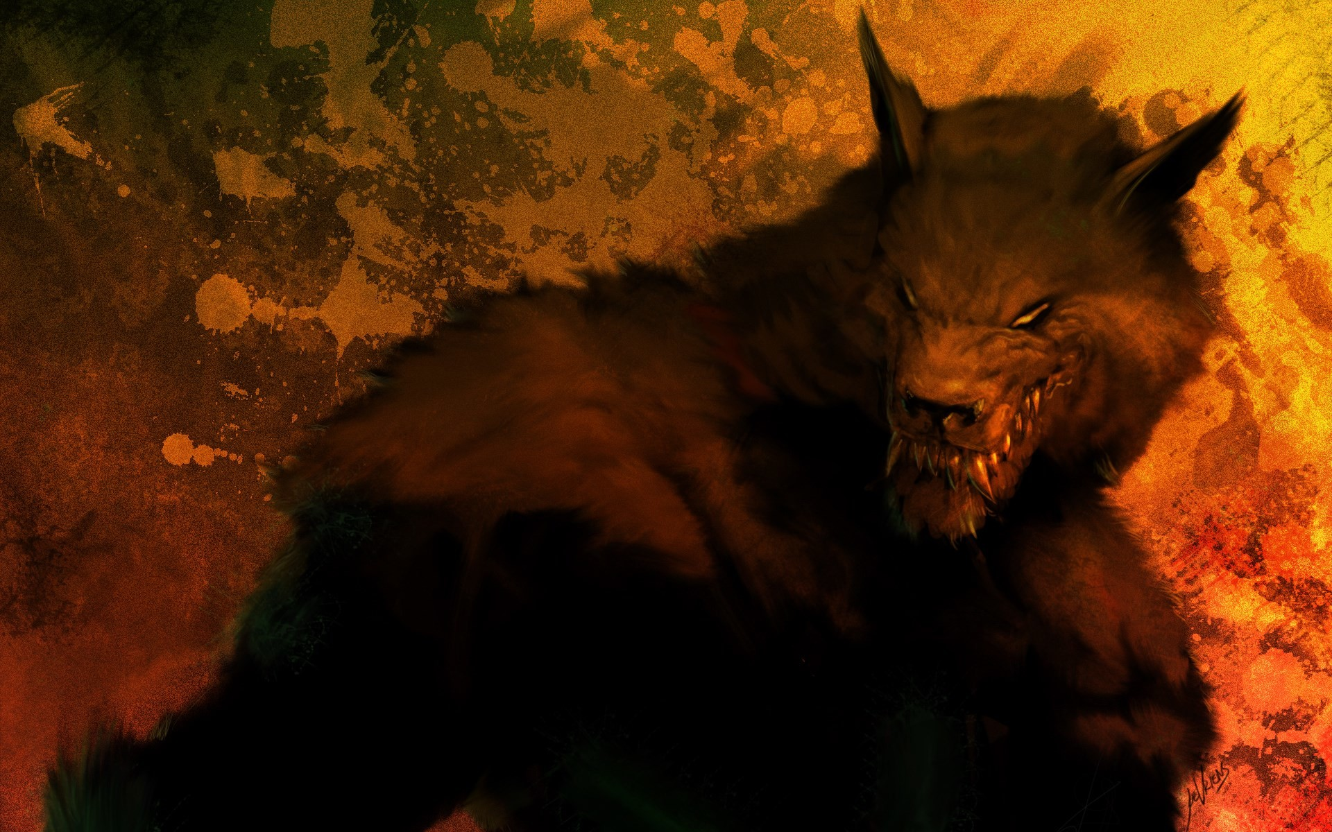 1920x1200 werewolf computer wallpaper backgrounds - werewolf category