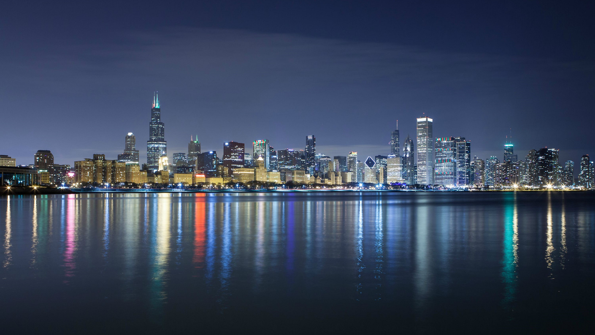 1920x1080 wallpaper.wiki-HD-Chicago-Skyline-Photo-PIC-WPE005434