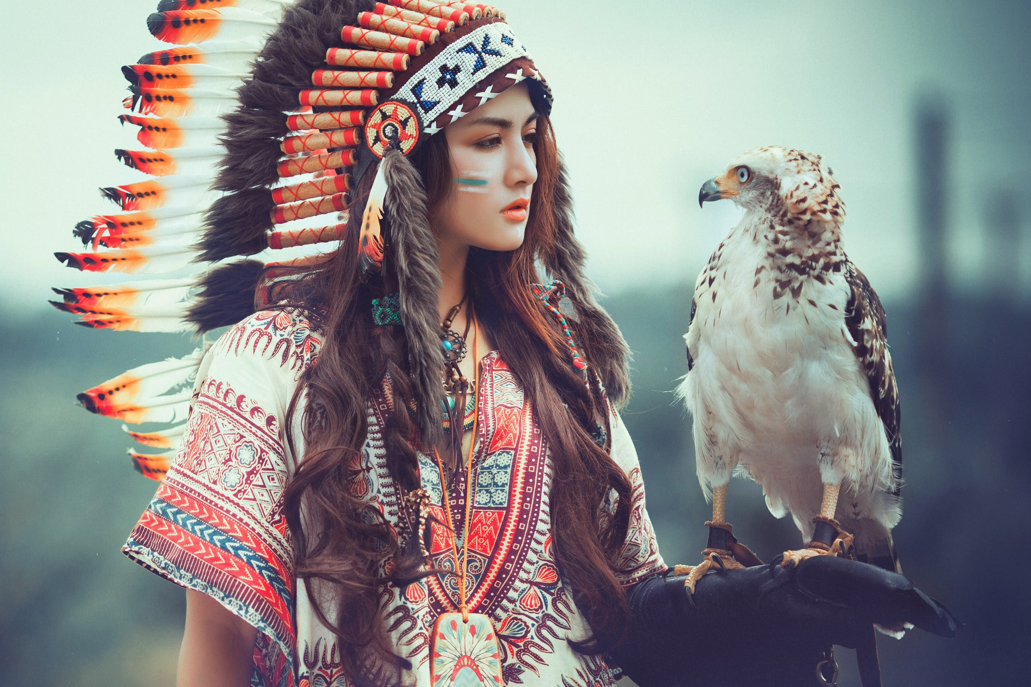 2048x1366 Beautiful Girl - American Indian Style Version 2.0 - Beautiful Girl - American  Indian Style Version