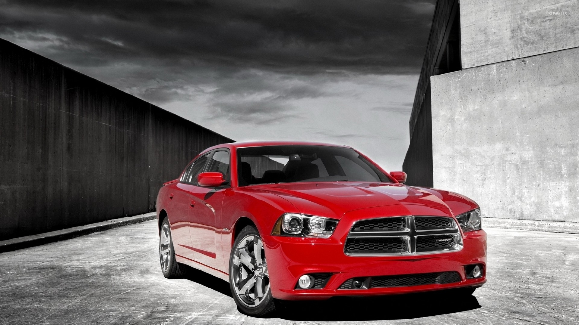 1920x1080 Front view of a 2012 Dodge Charger wallpaper  jpg