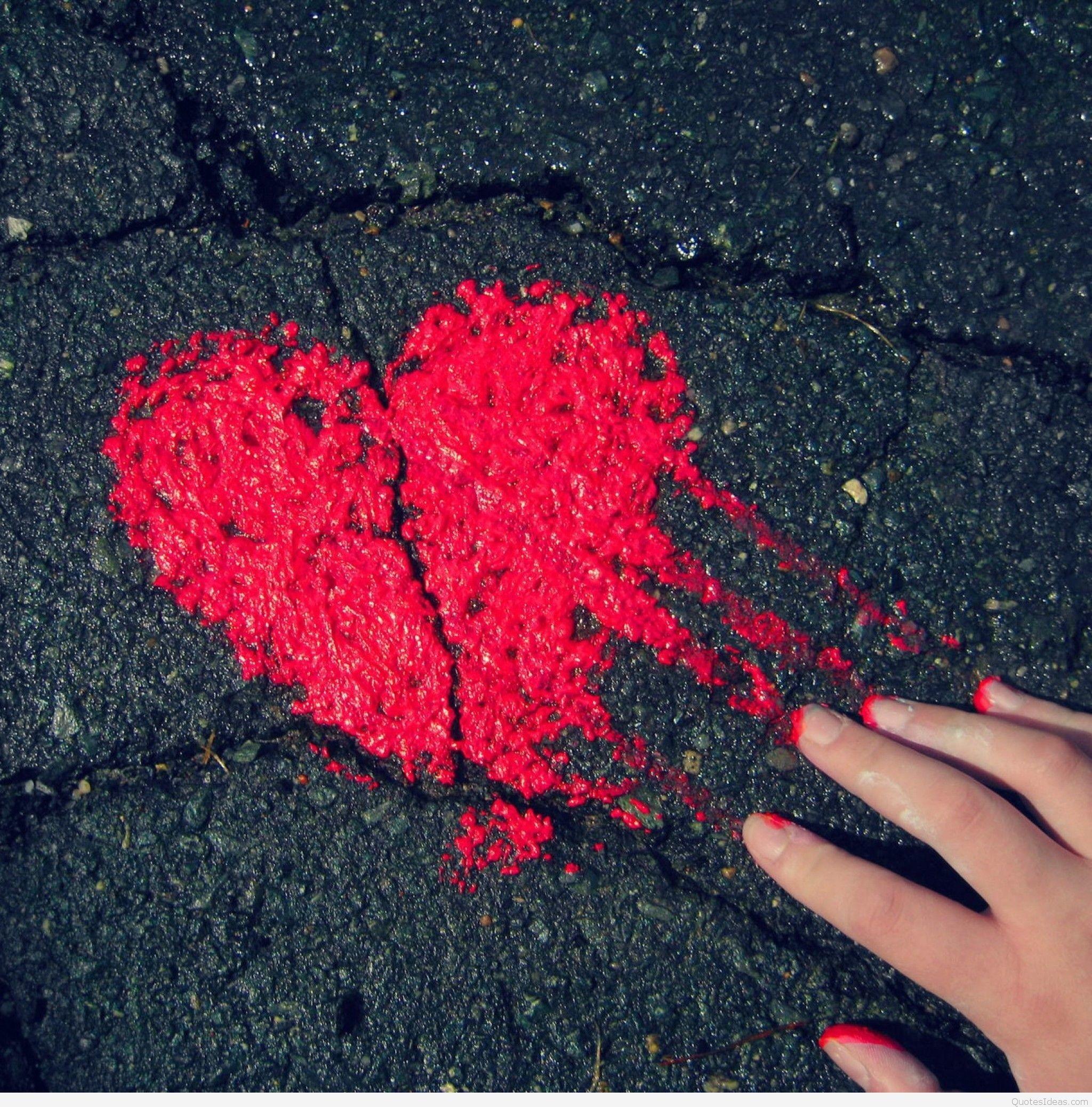Alone Sad Girl Hd Desktop Wallpaper: Sad Heart Wallpapers (62+ Images