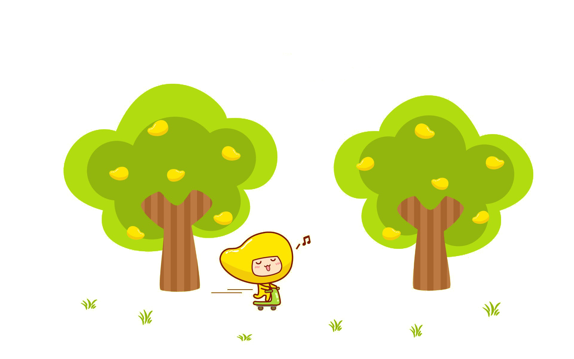 1920x1200 picture freeuse Cartoon trees and people