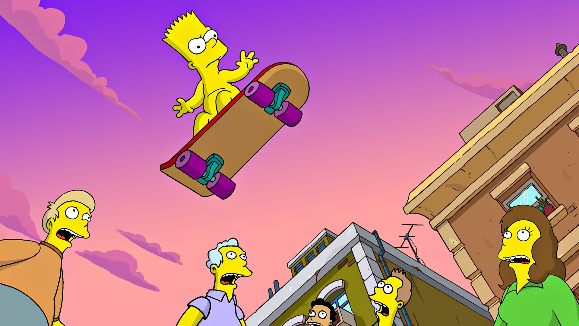 1920x1080 Wallpaper iphone simpsons - The Simpsons Bart Simpson Skateboard Wallpaper  Hd