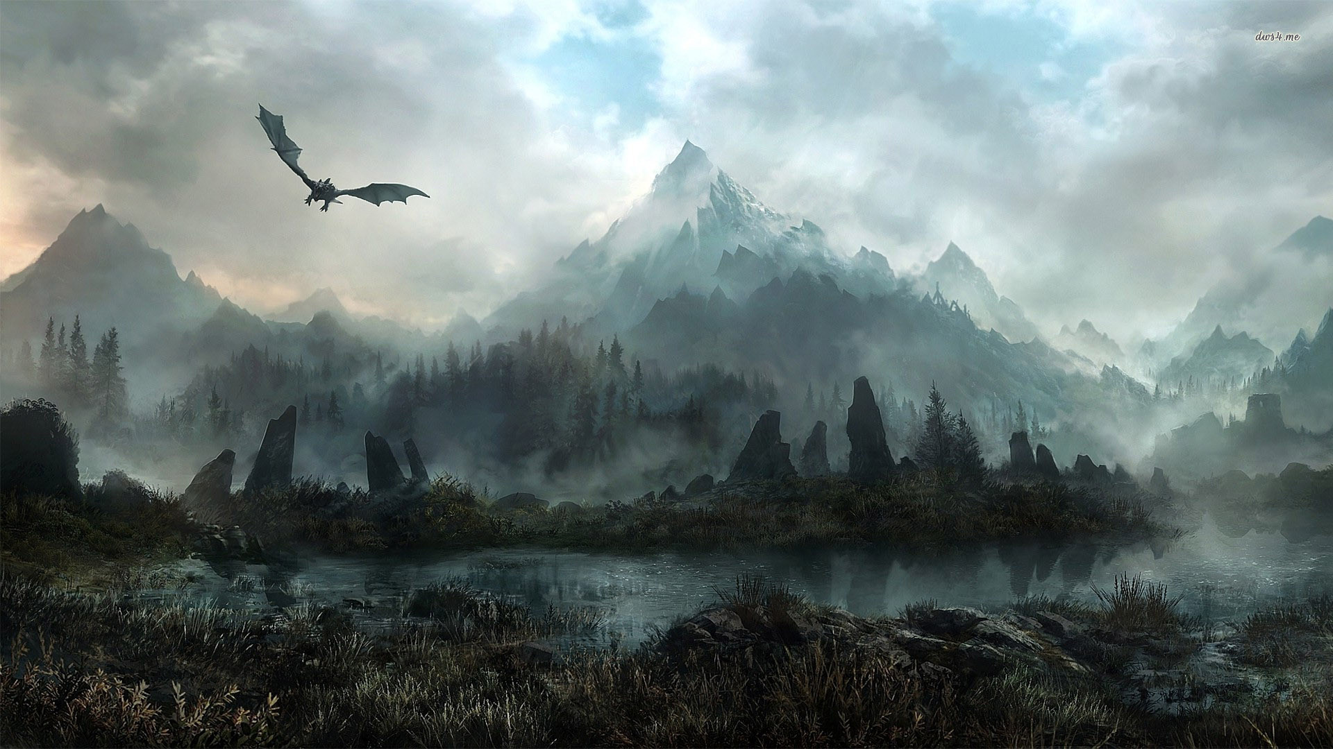 Skyrim desktop wallpaper 72 images - Dragon backgrounds 1920x1080 ...