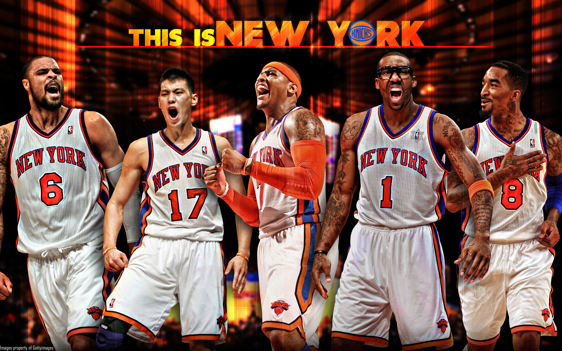1920x1200 New York Knicks Starting 5 2012 Wallpaper