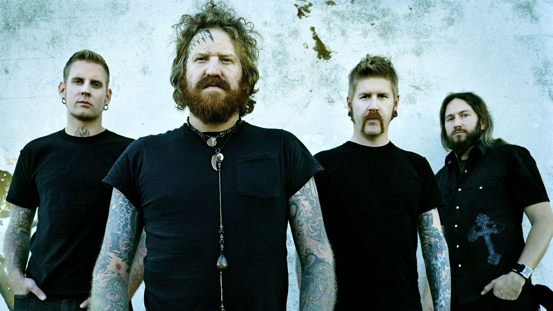 1920x1080 Preview wallpaper mastodon, earrings, t-shirts, chain, beard