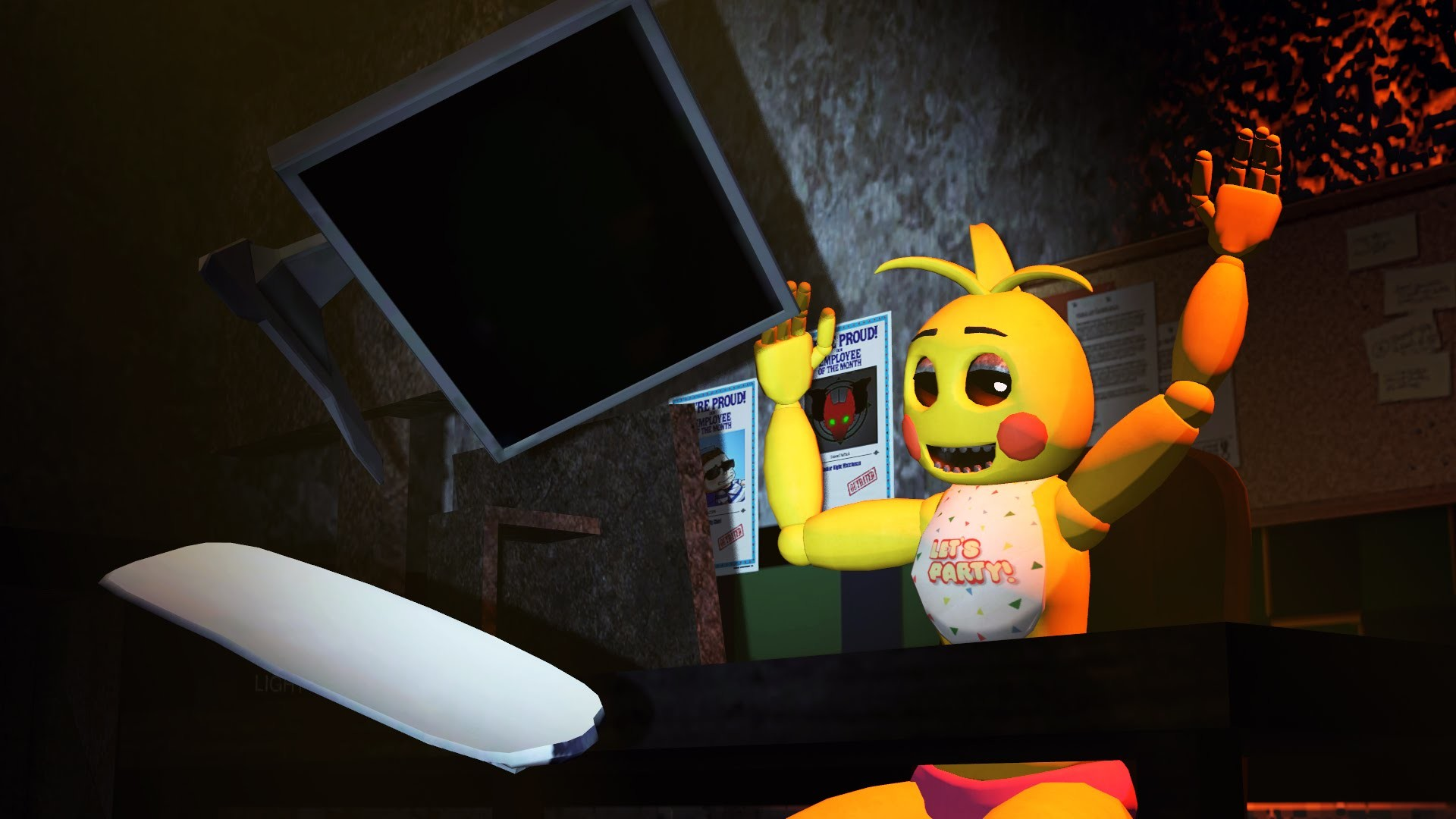 1920x1080 [SFM FNAF2] Toy Chica Reacts to Five Night's at Freddy's 4 Teaser - YouTube
