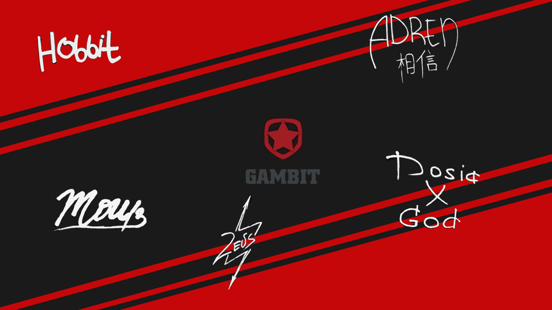 1920x1080 Gambit Gaming player autograph(off) by Ronofar