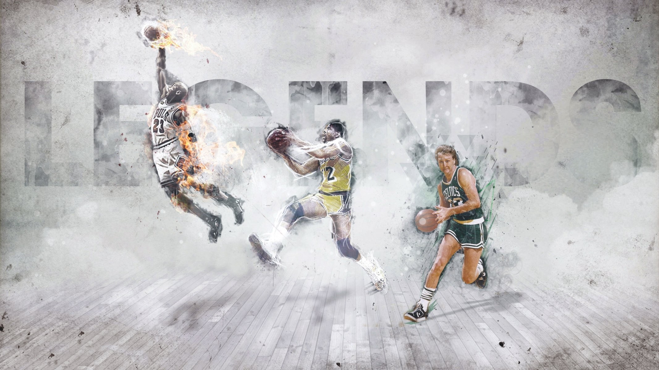 2133x1200 michael jordan magic johnson larry bird boston celtics chicago bulls los  angeles lakers legends basketball sports
