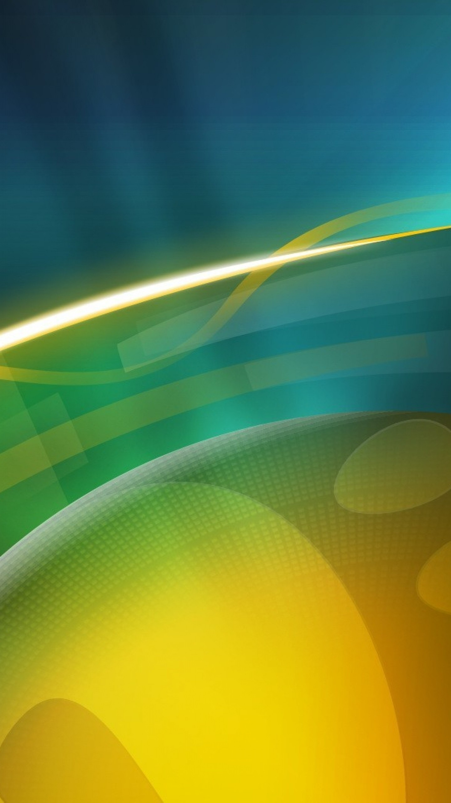1440x2560  Wallpaper ball, circle, yellow, blue, green