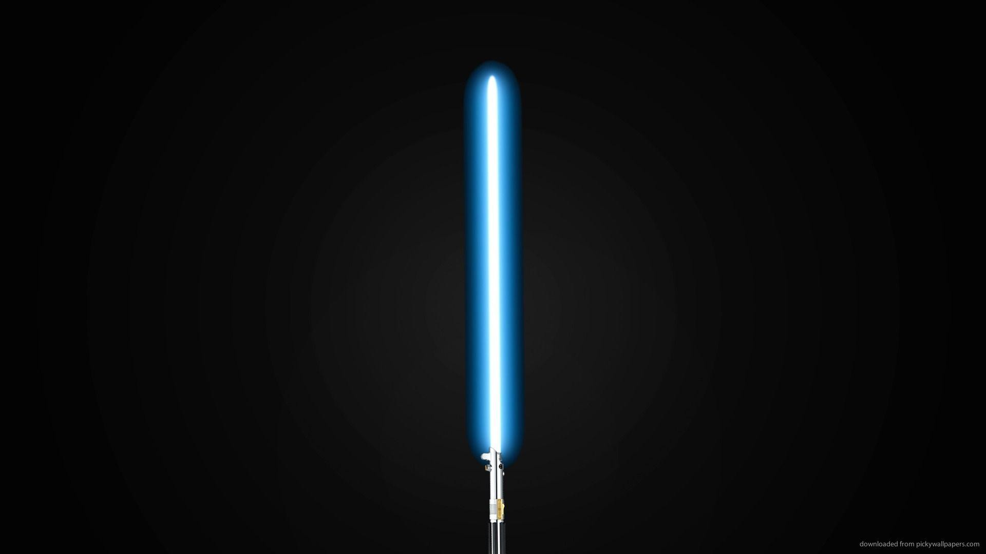 1920x1080 HD Blue Lightsaber Wallpaper