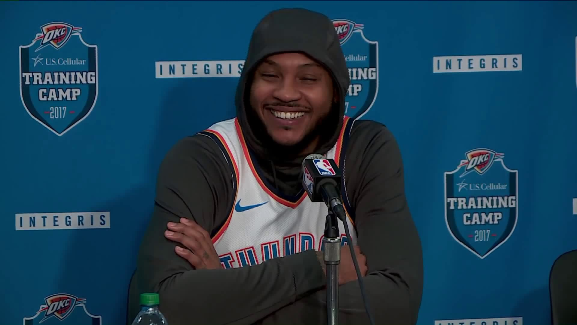 1920x1080 Carmelo Anthony at news conference on Monday.