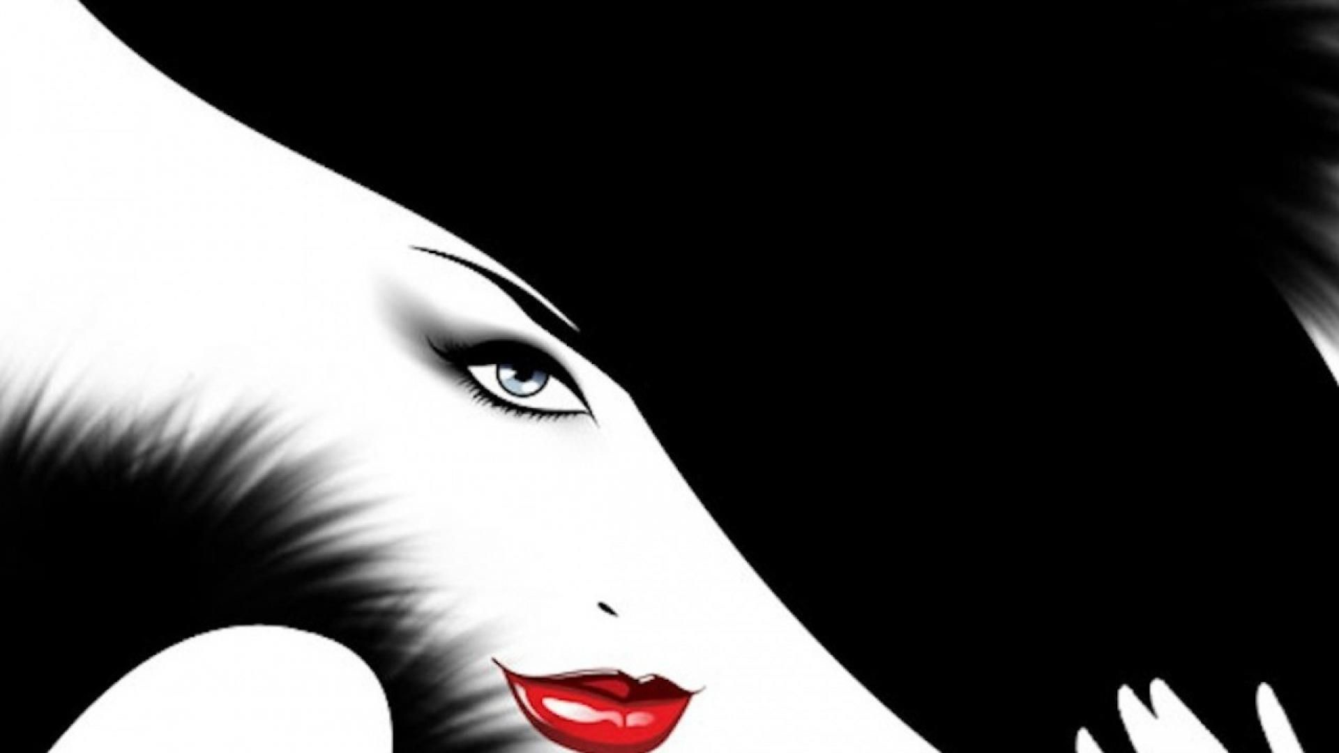 1920x1080 Red Lips Artwork Wallpaper 28448