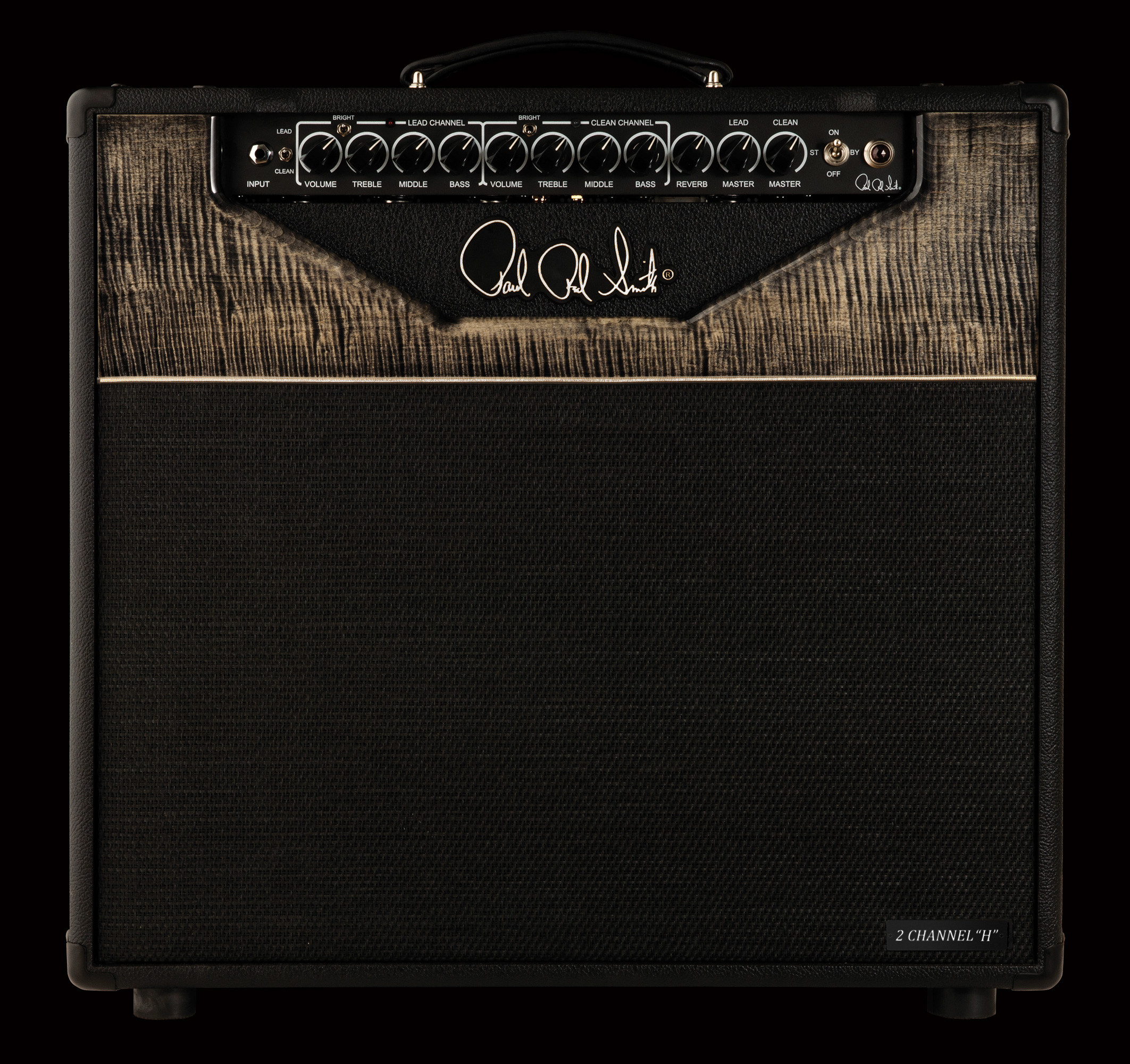 2125x2000 PRS Guitars' core amplifier line is set to be offered with curly maple  fascias as a standard feature, stained Charcoal. Introduced in 2009, the  core line ...