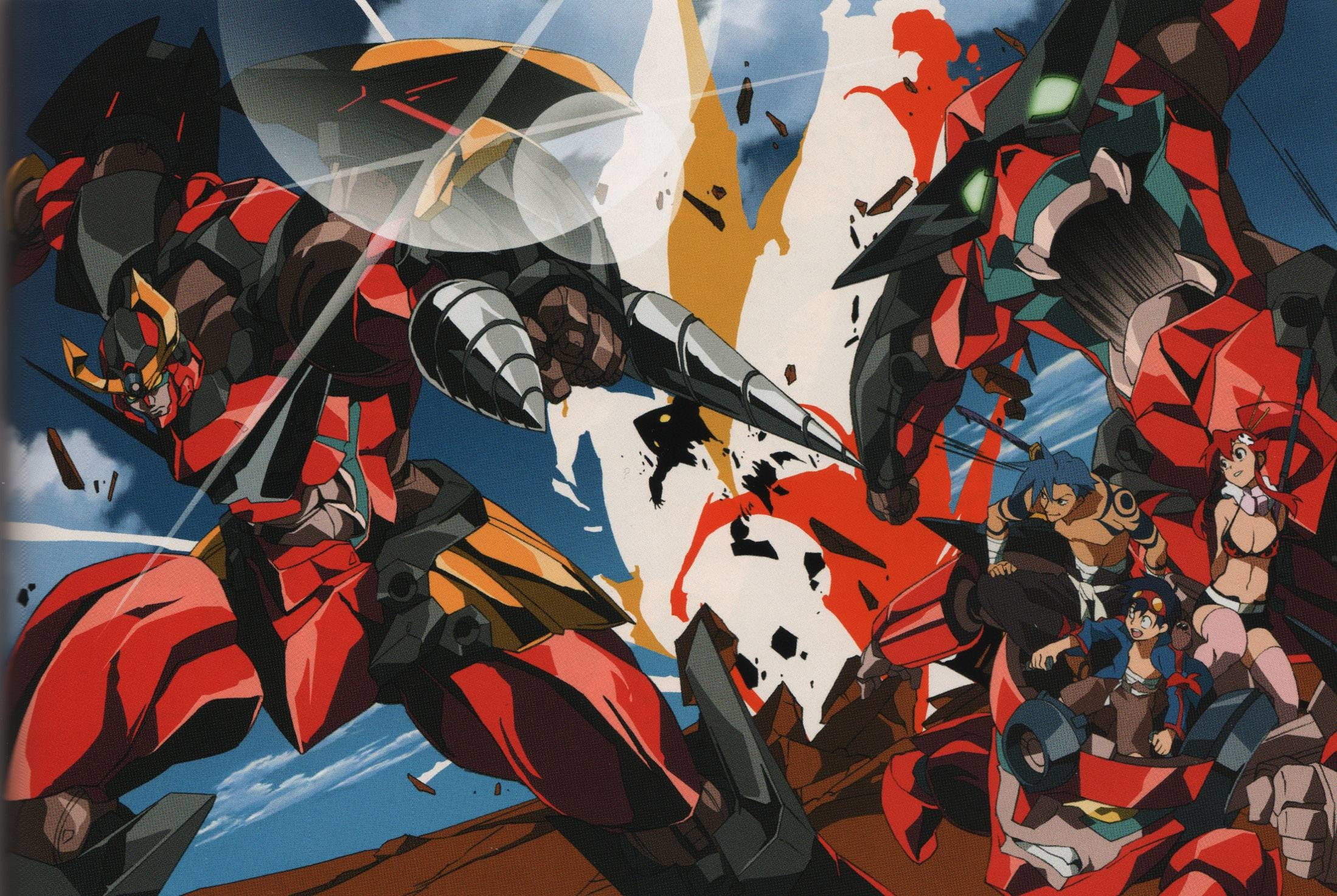 2198x1473 Images For > Gurren Lagann Robot Wallpaper