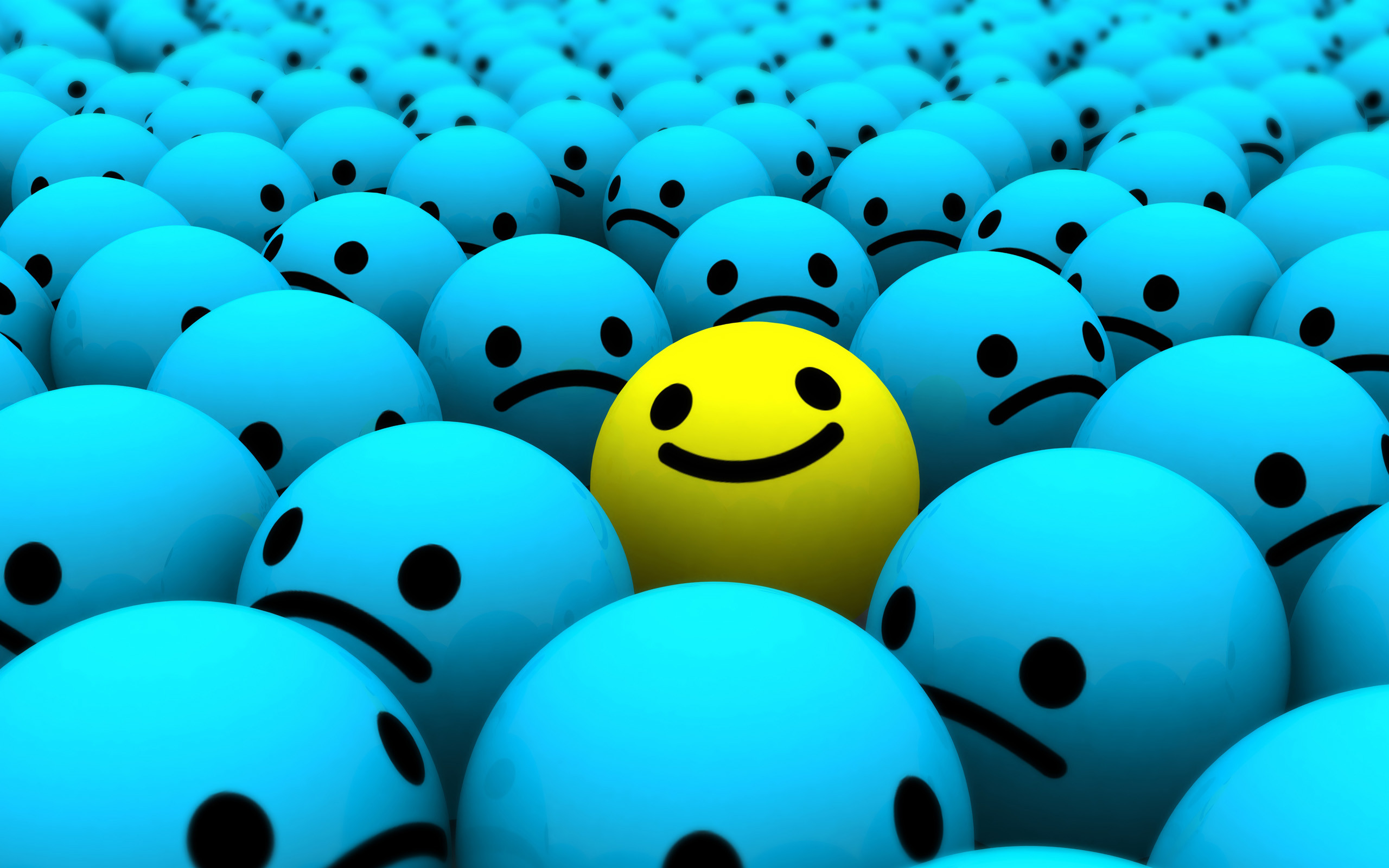 2560x1600 Smiley Face