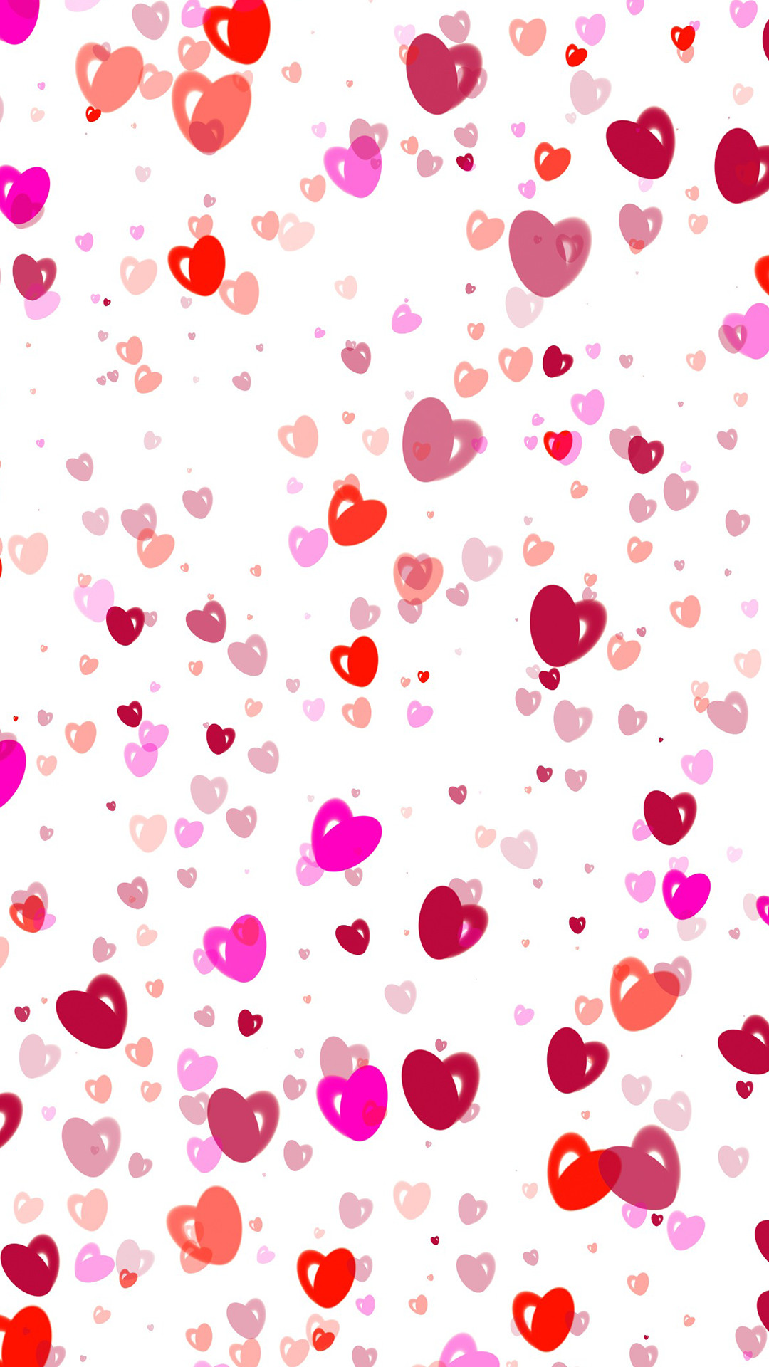1080x1920 Ultra Hd Painted Love Hearts Wallpaper For Your Mobile Phone 0199