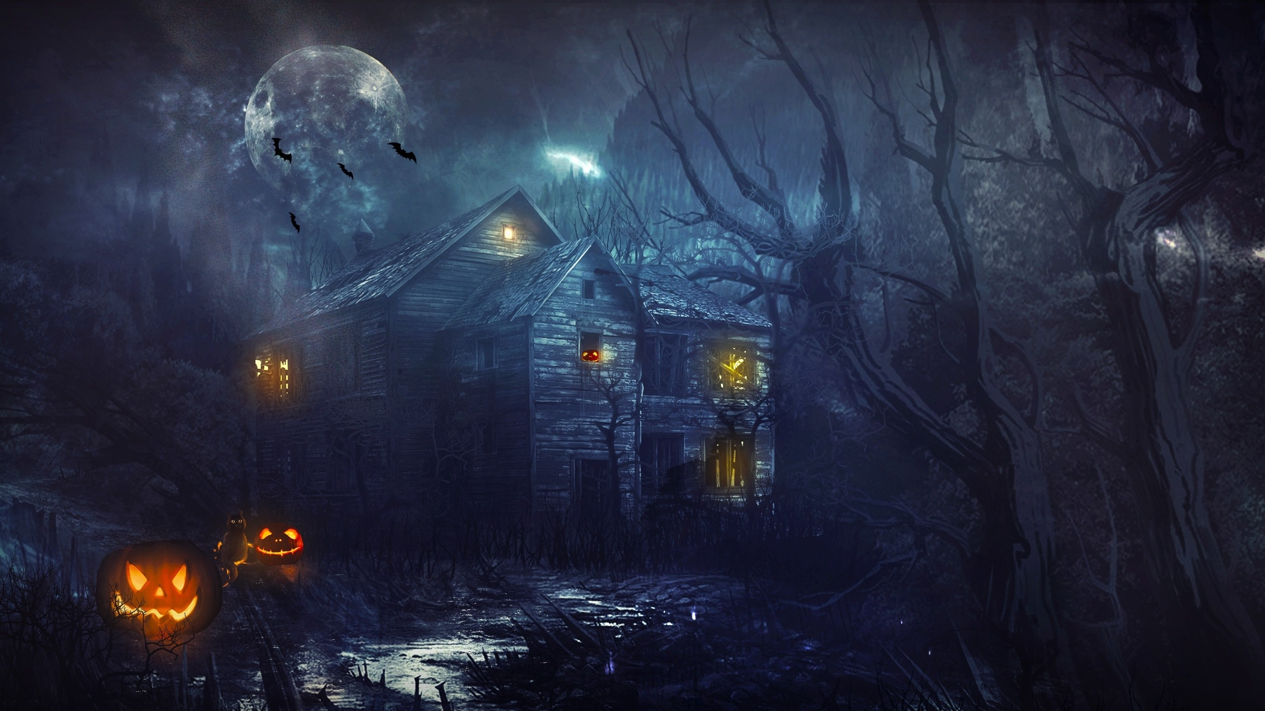 2560x1440 Haunted house wallpaper #31301