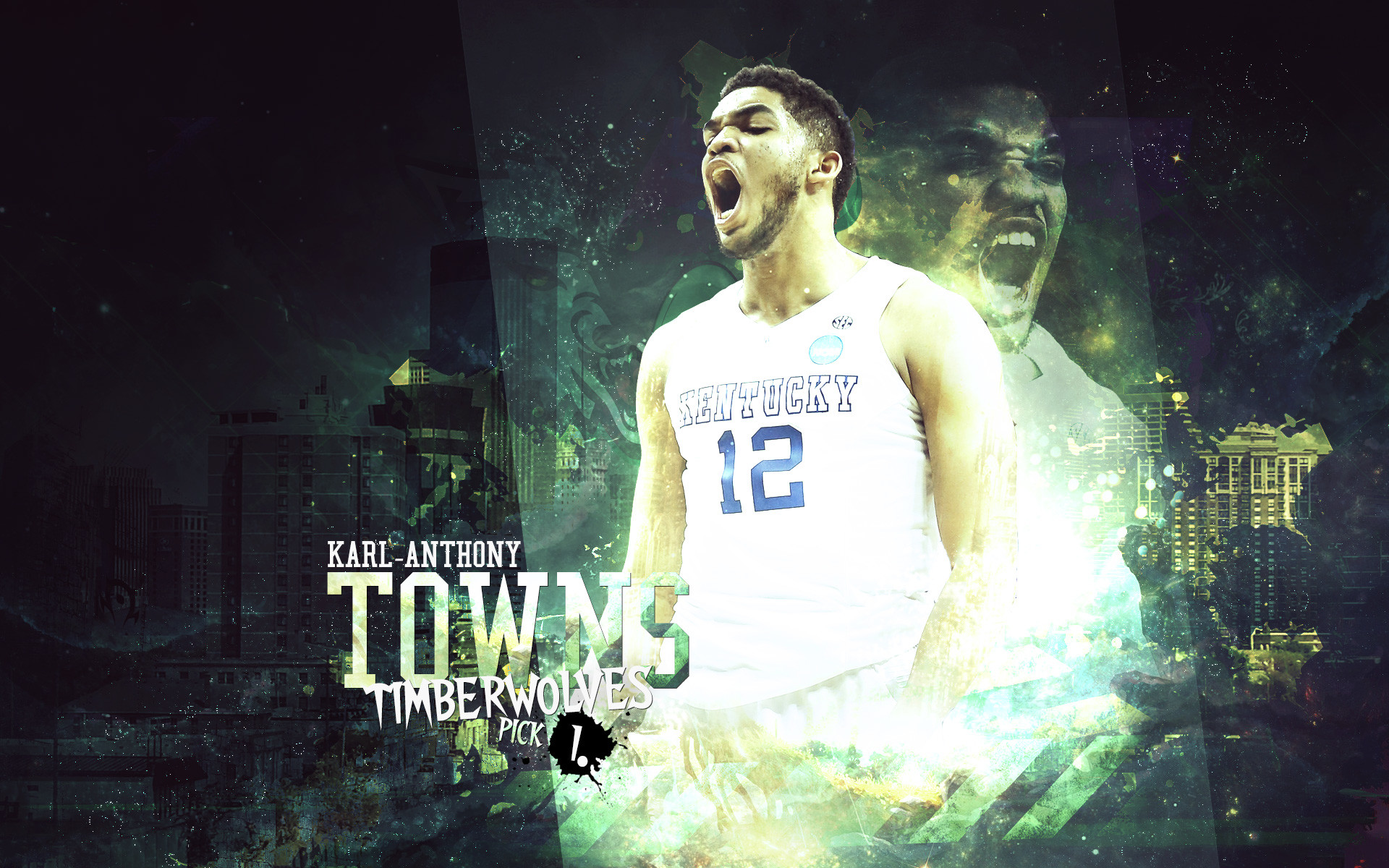 1920x1200 Karl-Anthony Towns Wildcats 2015  Wallpaper