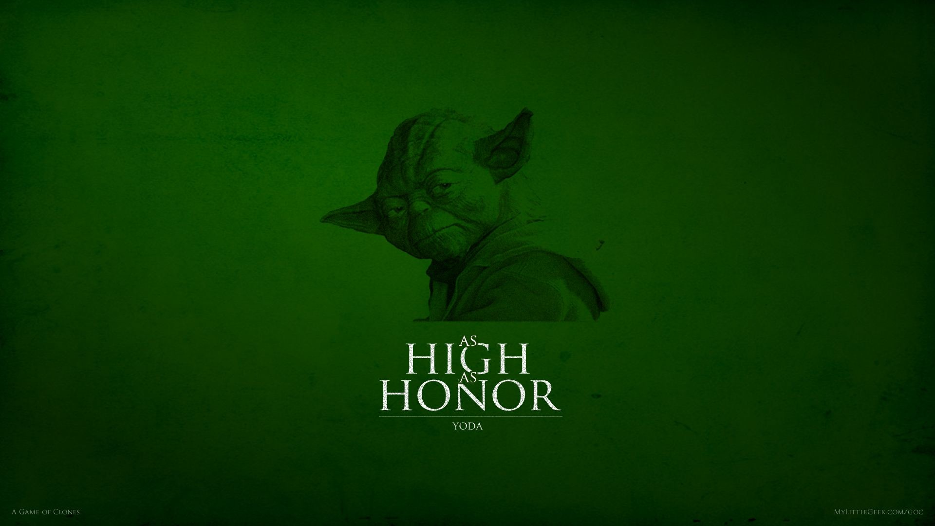 1920x1080 As High As Honor Yoda Wallpaper