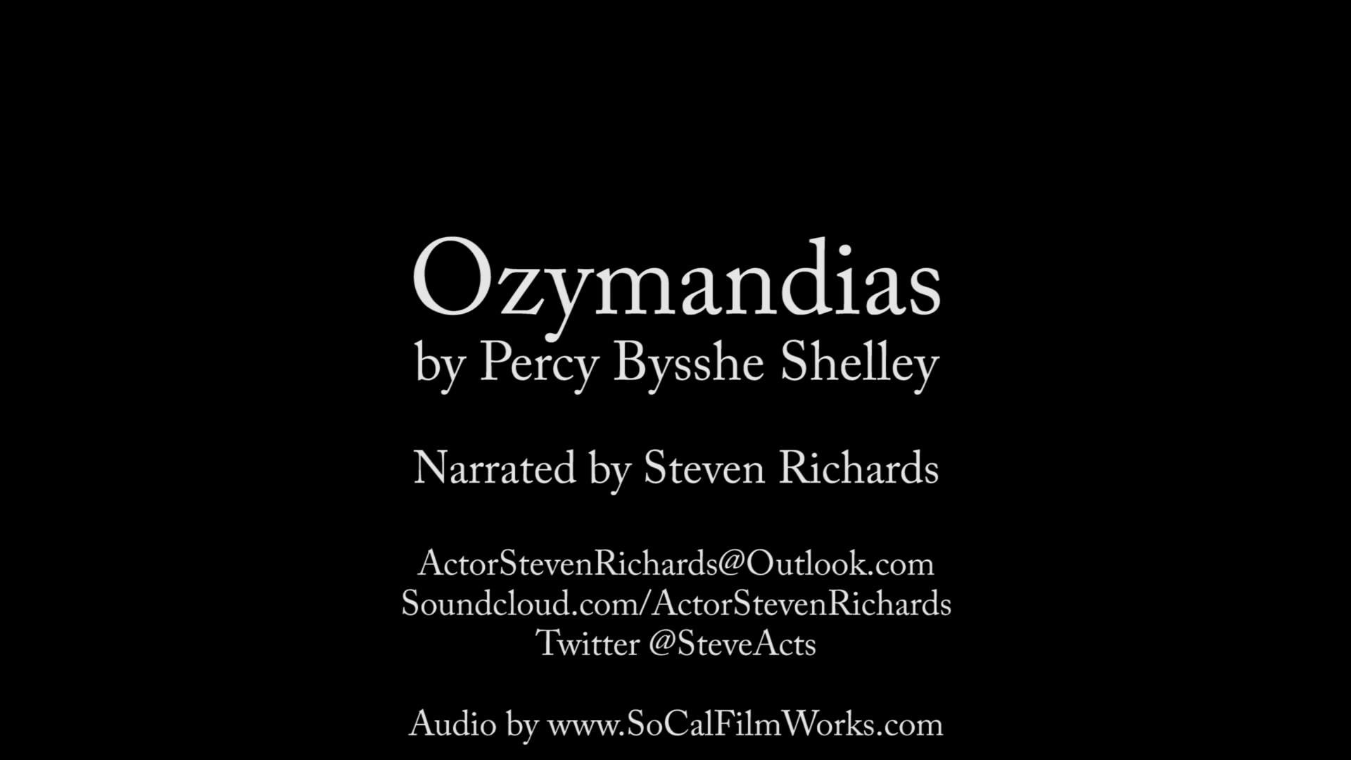 1920x1080 Ozymandias by Percy Bysshe Shelley (audio)