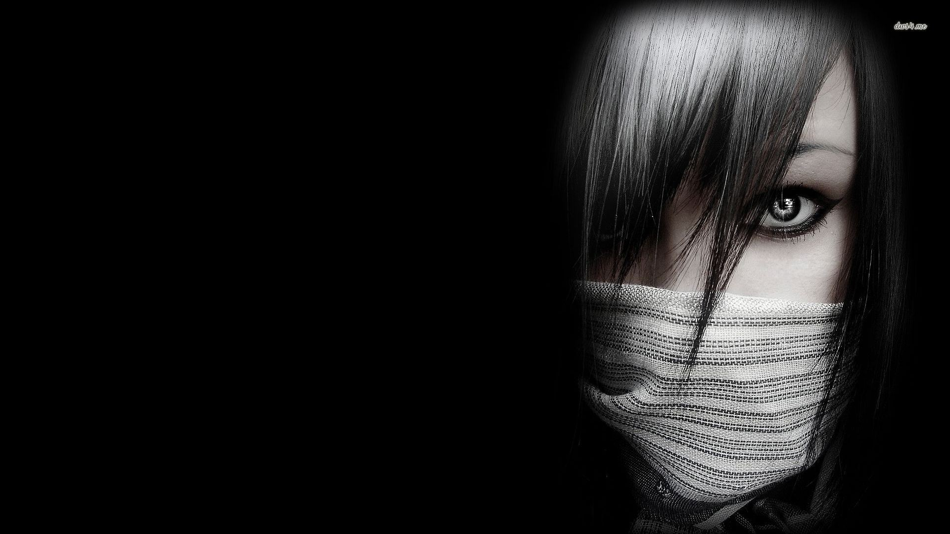 1920x1080 1920x1080 Emo girl in the shadows Digital Art HD desktop wallpaper, Woman wallpaper,
