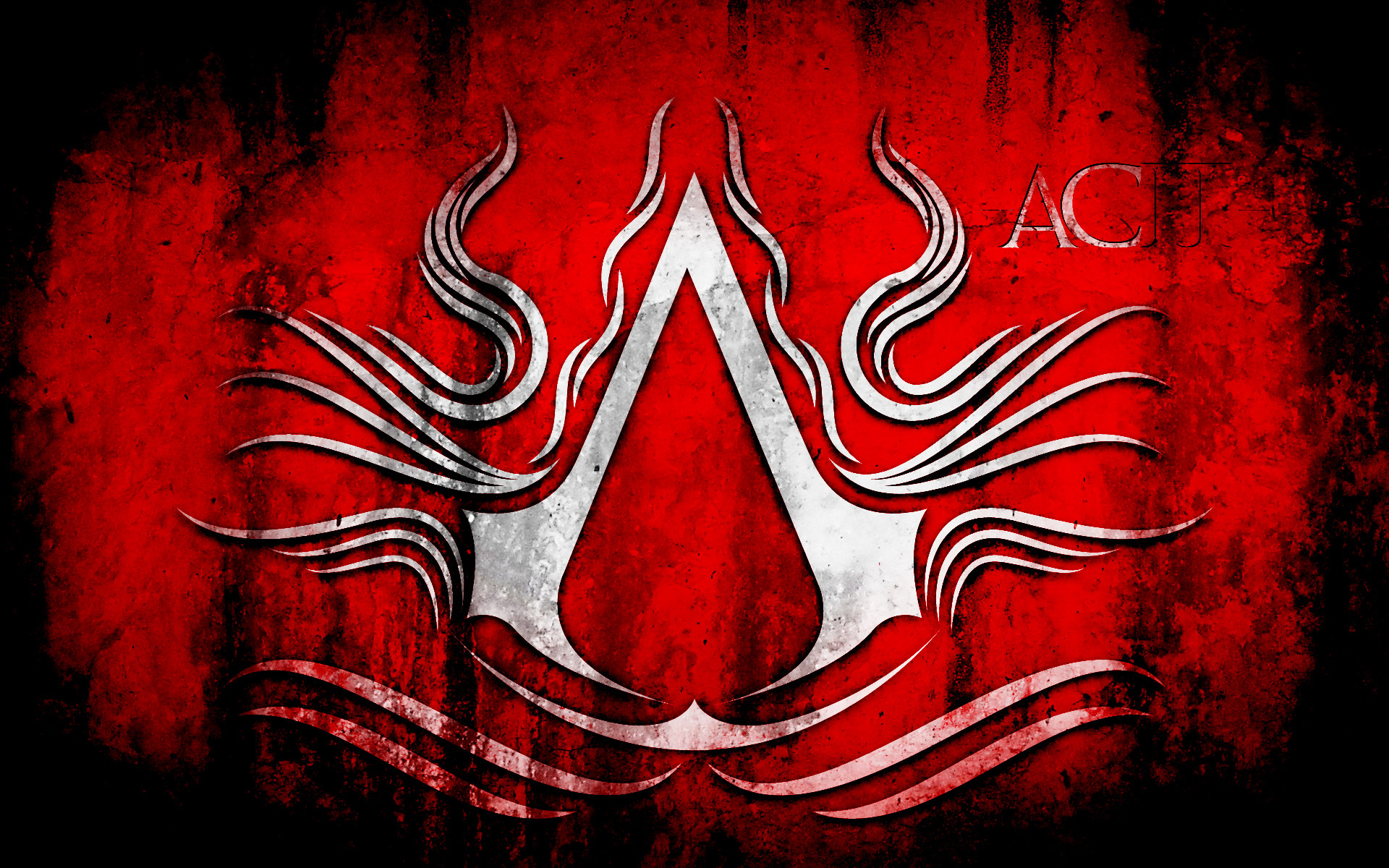 assassins creed black flag logo red and black images