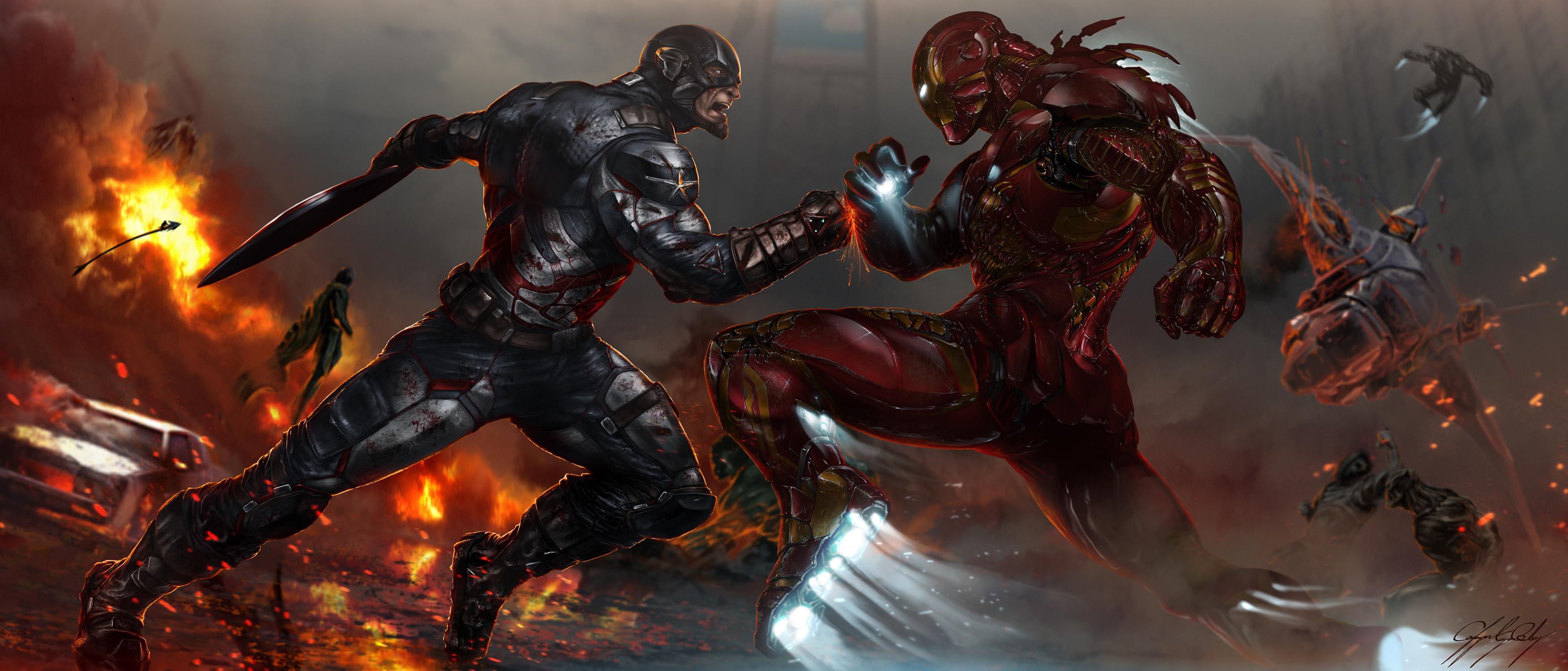 Marvel Civil War Wallpaper (69+ images)  Marvel Civil Wa...
