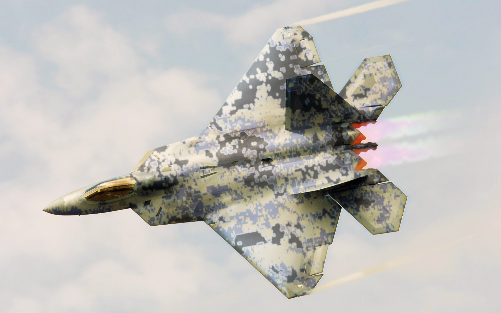 1920x1200 F-22 Raptor Fighter Aircraft | HD Wallpapers · 4K ...