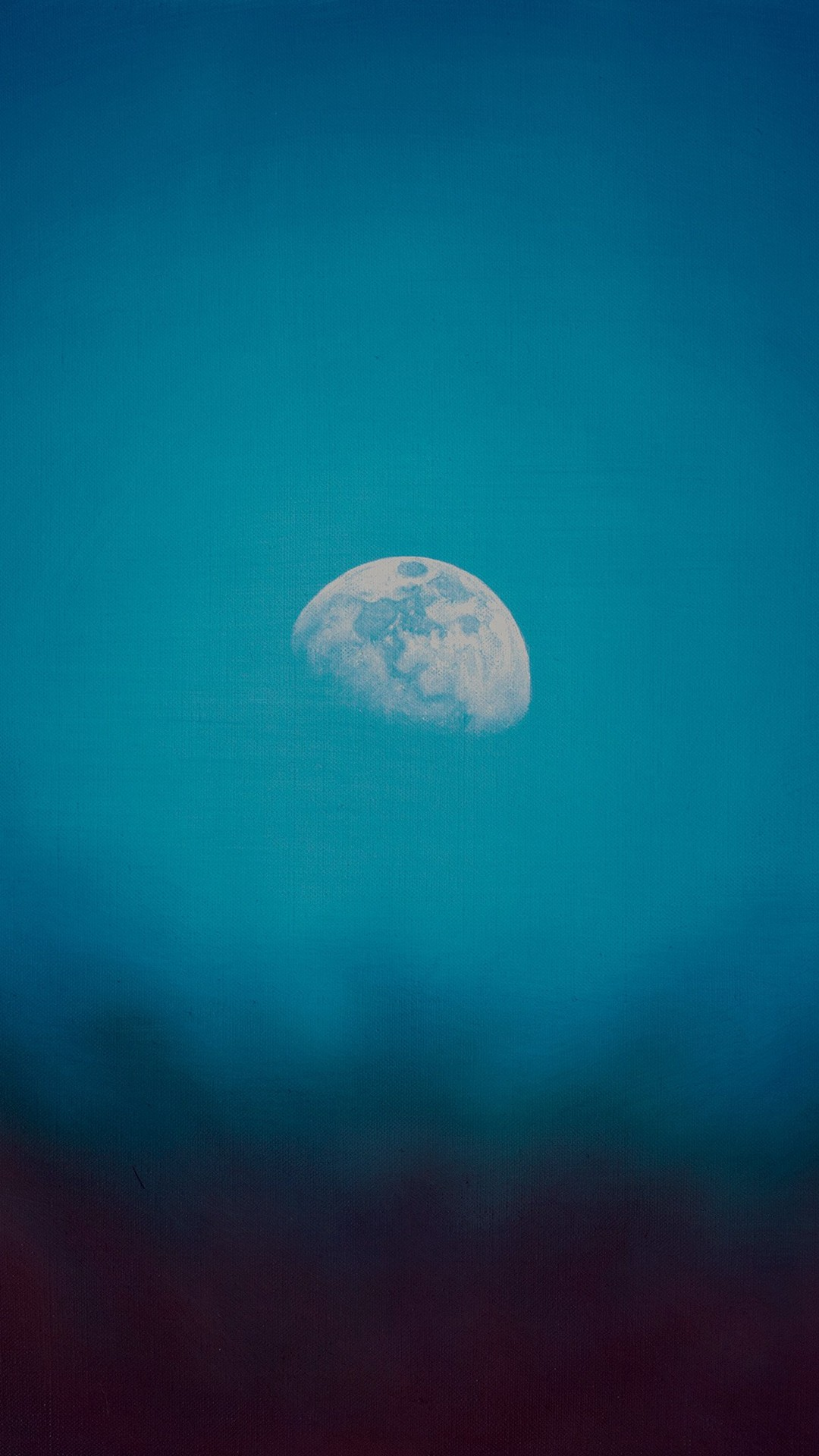 1080x1920 Moon Rise Day Nature Blue Dark Night Green iPhone 6 wallpaper