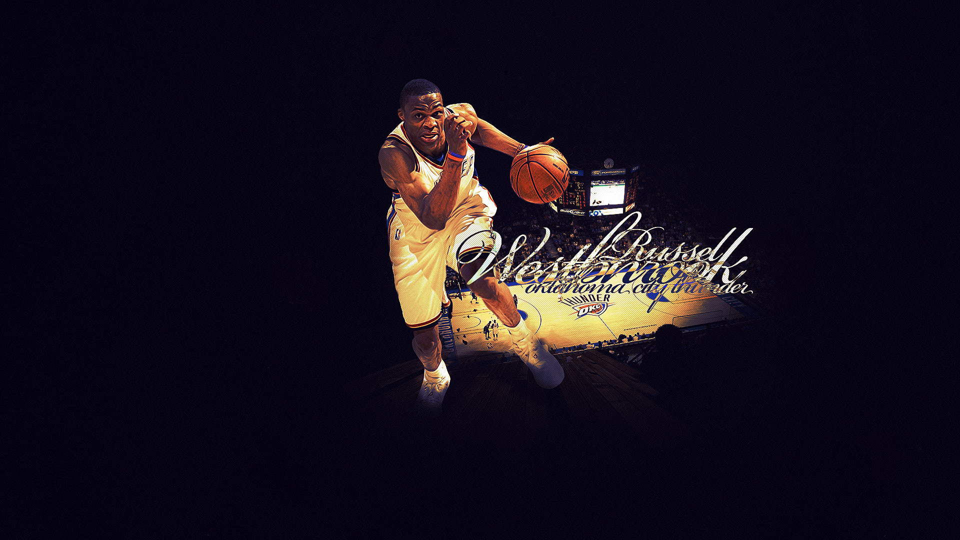 1920x1080 Russell Westbrook Thunder Widescreen Wallpaper