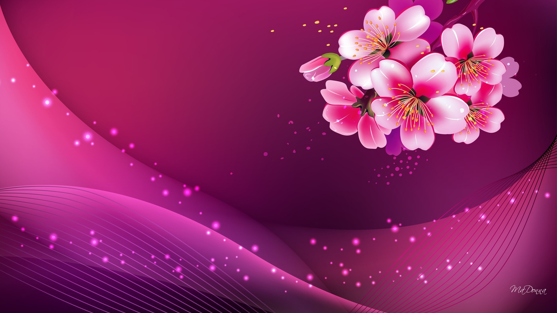 1920x1080 widescreen pink background hd image pc