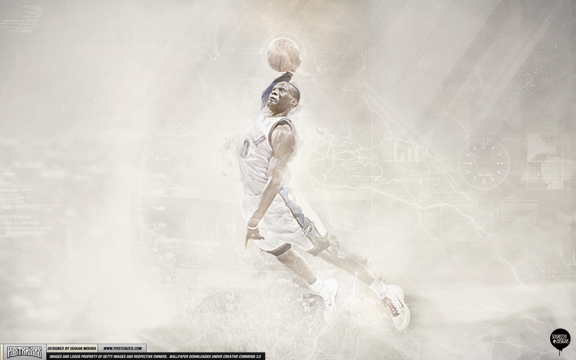 1920x1200 ... Air Westbrook Oklahoma City Thunder Wallpaper by IshaanMishra