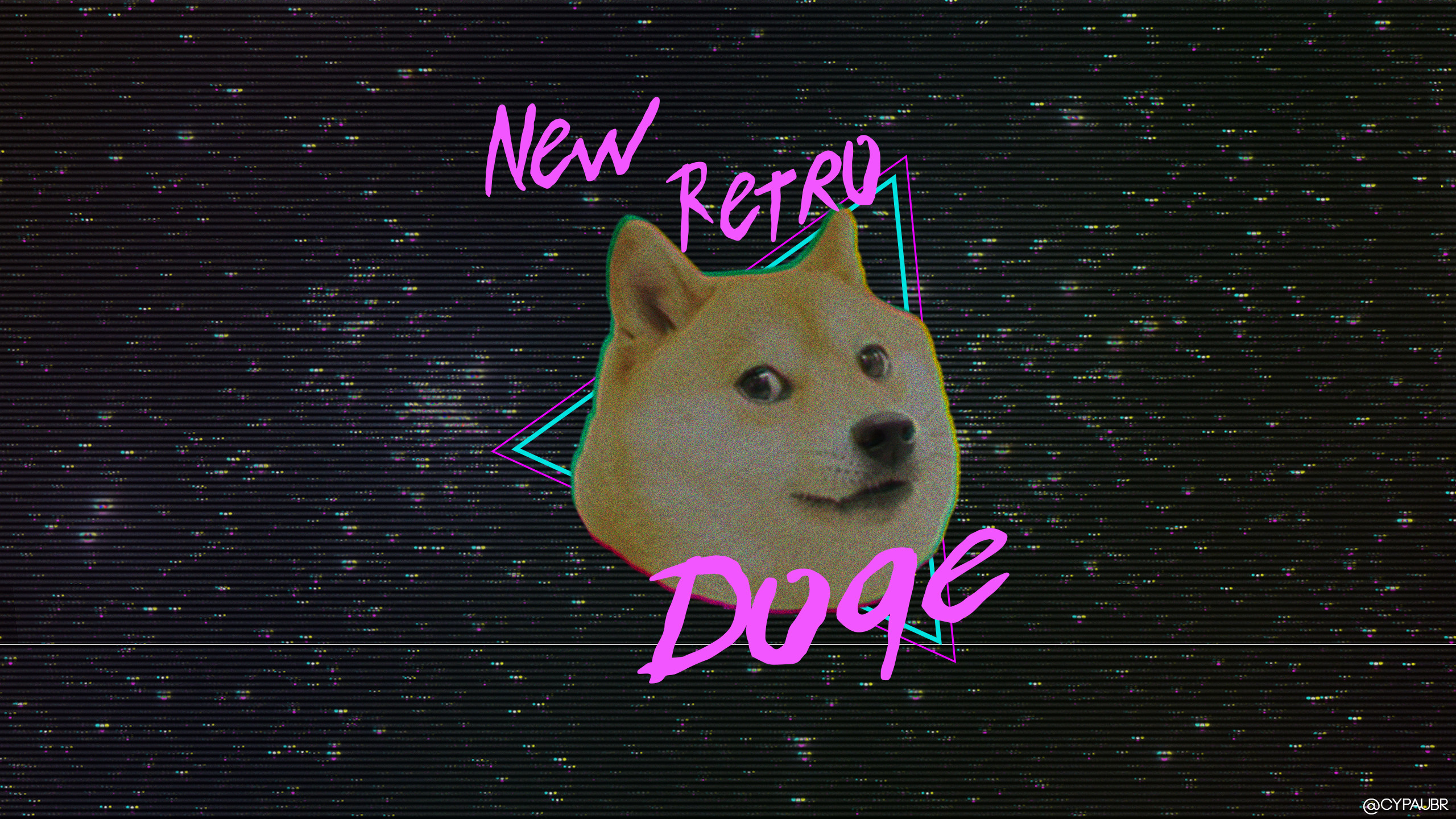 doge dog retro shiba meme inu background wave vhs wallpapers desktop hd aesthetic animals space backgrounds px mammal wallpaperplay wall
