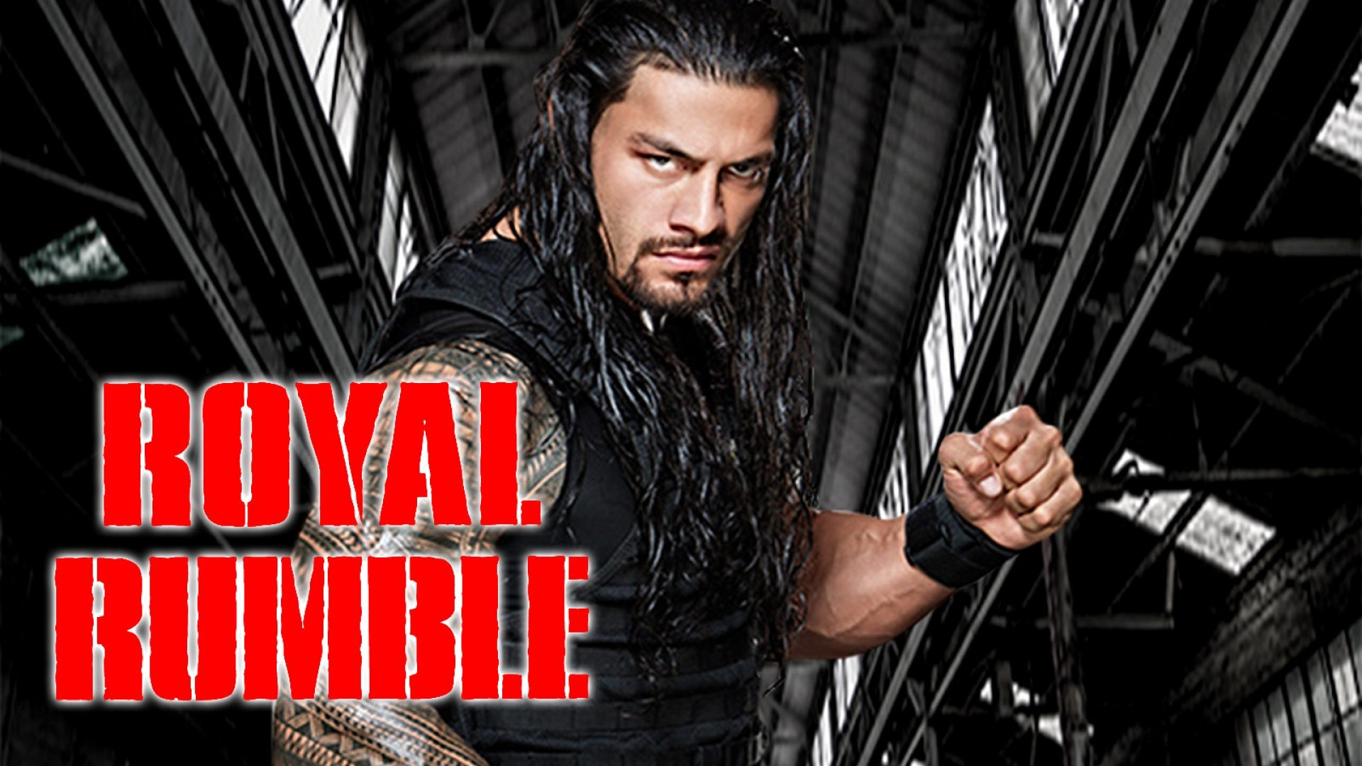 1920x1080 Roman Reigns 2015 Royal Rumble Wallpaper