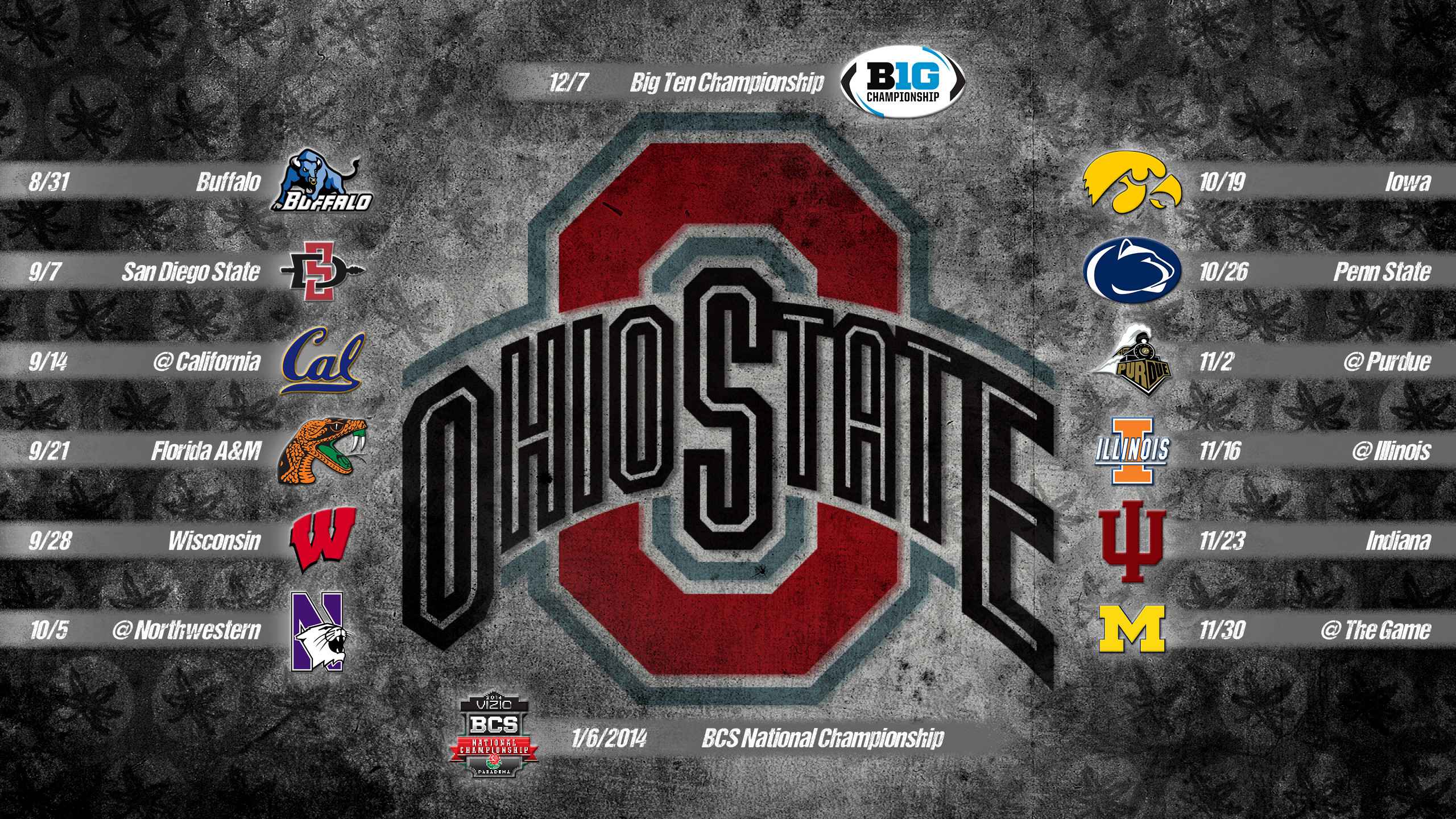 2560x1440 Ohio State Football Wallpaper 2015 ( px)