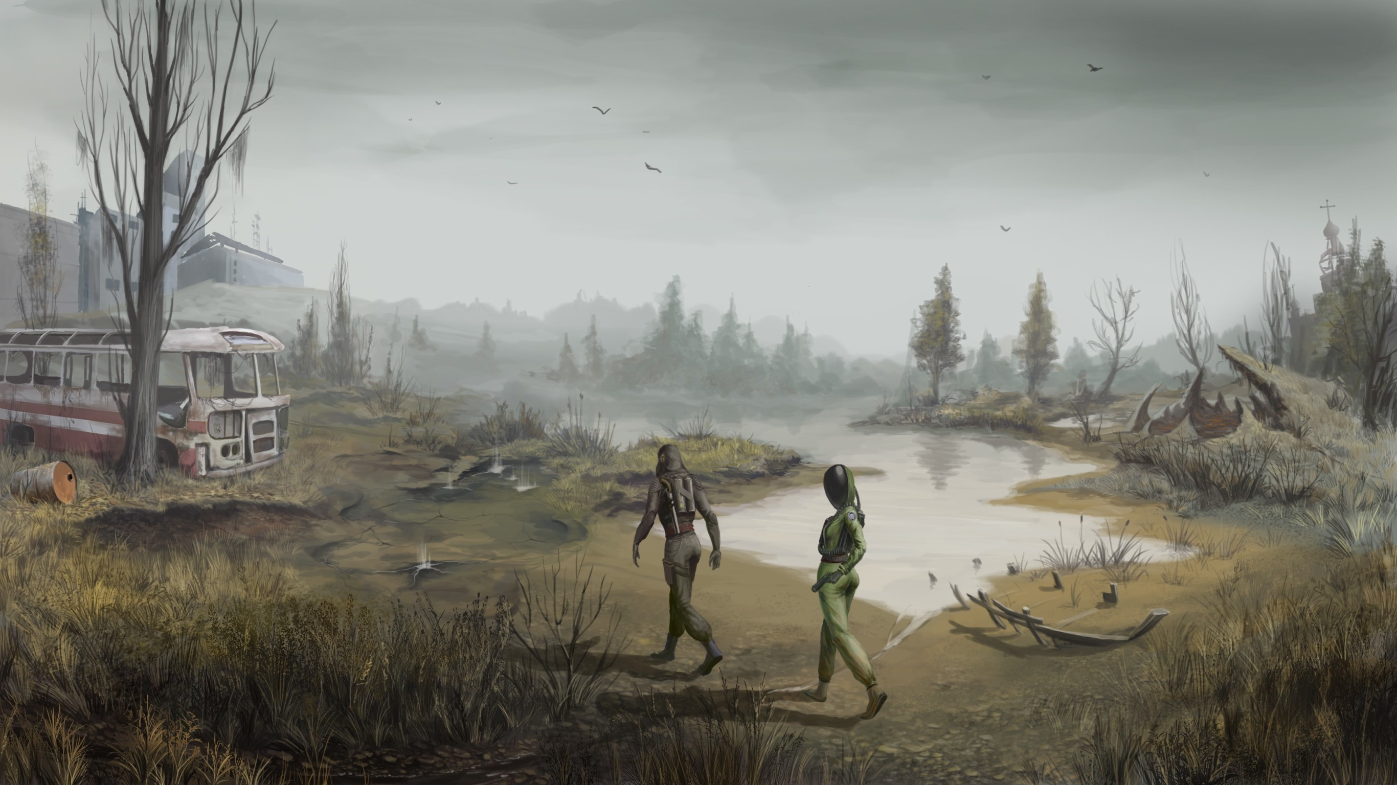 2732x1536 S.T.A.L.K.E.R., Video Games, Artwork Wallpapers HD / Desktop and Mobile  Backgrounds