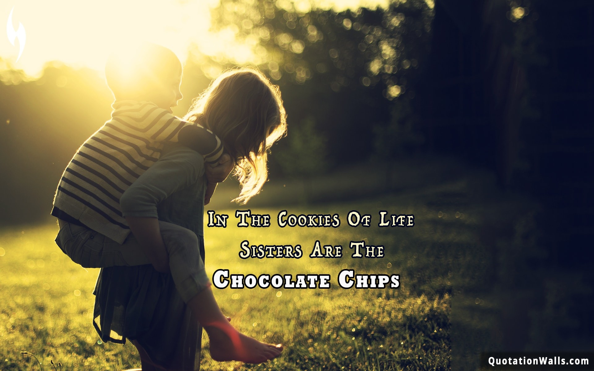 1920x1200 Love quote mobile: In the cookies of life, sisters are the chocolate chips.