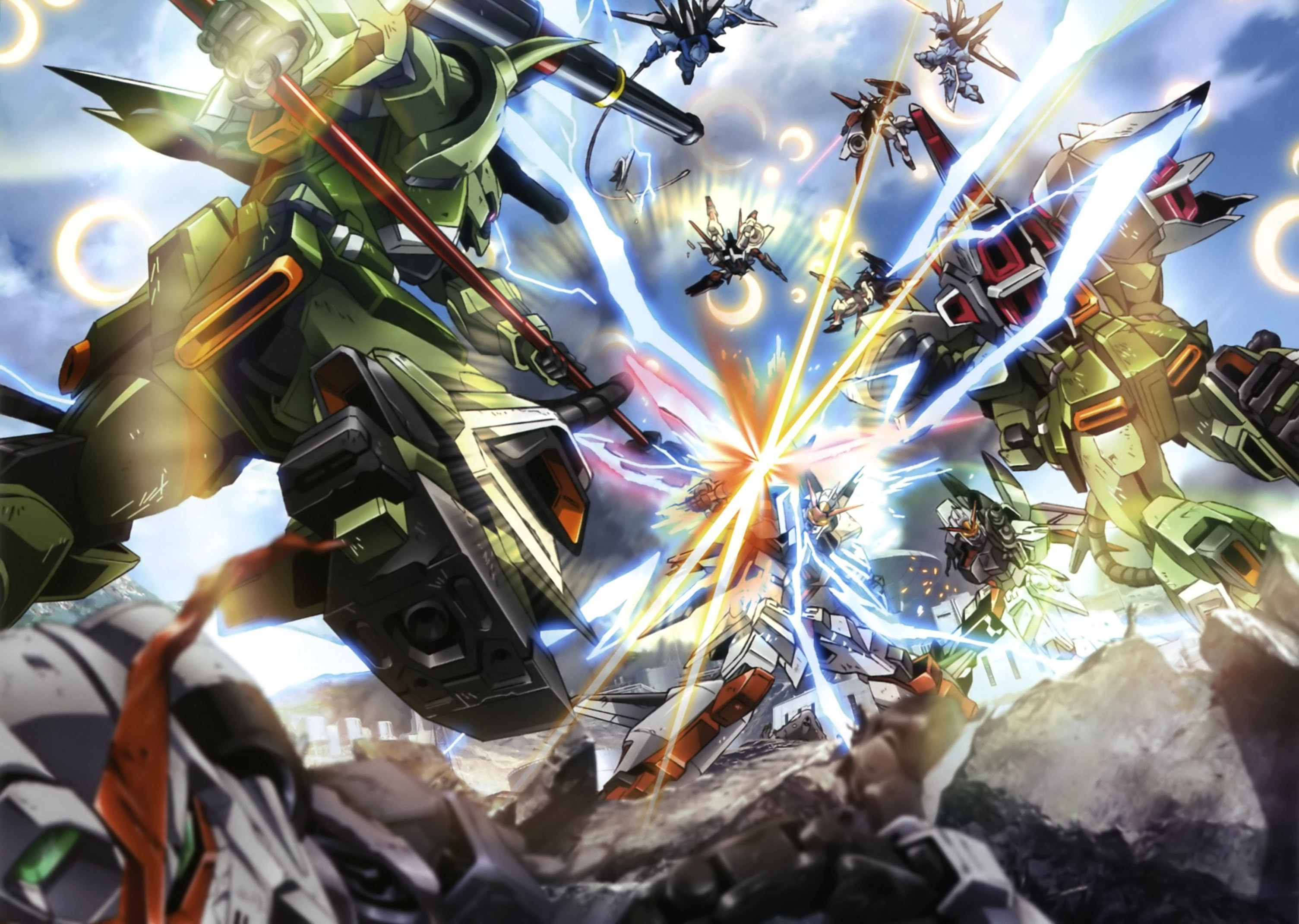 3009x2141  free screensaver wallpapers for mobile suit gundam seed destiny