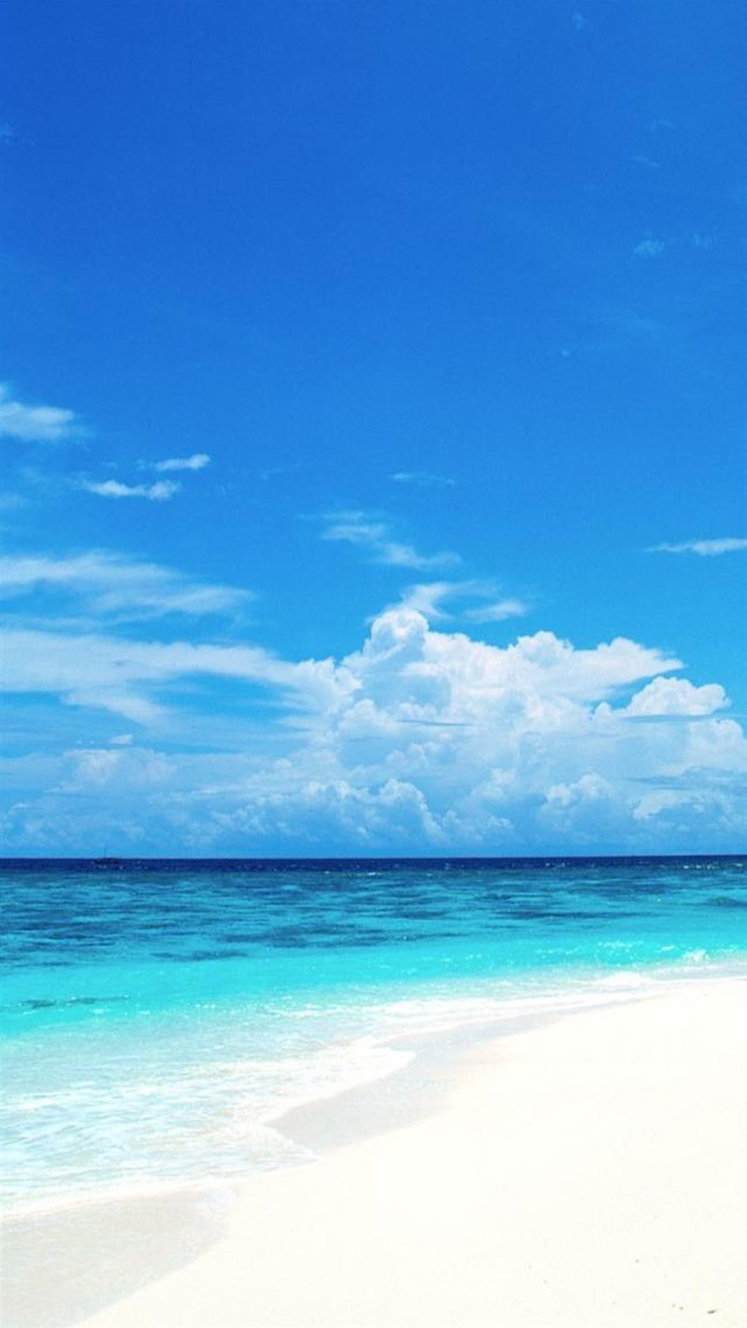 1080x1920 Download Many Resolution: Click Here (to Attachment Page). This Sky Blue  Beach Desktop Wallpaper ...