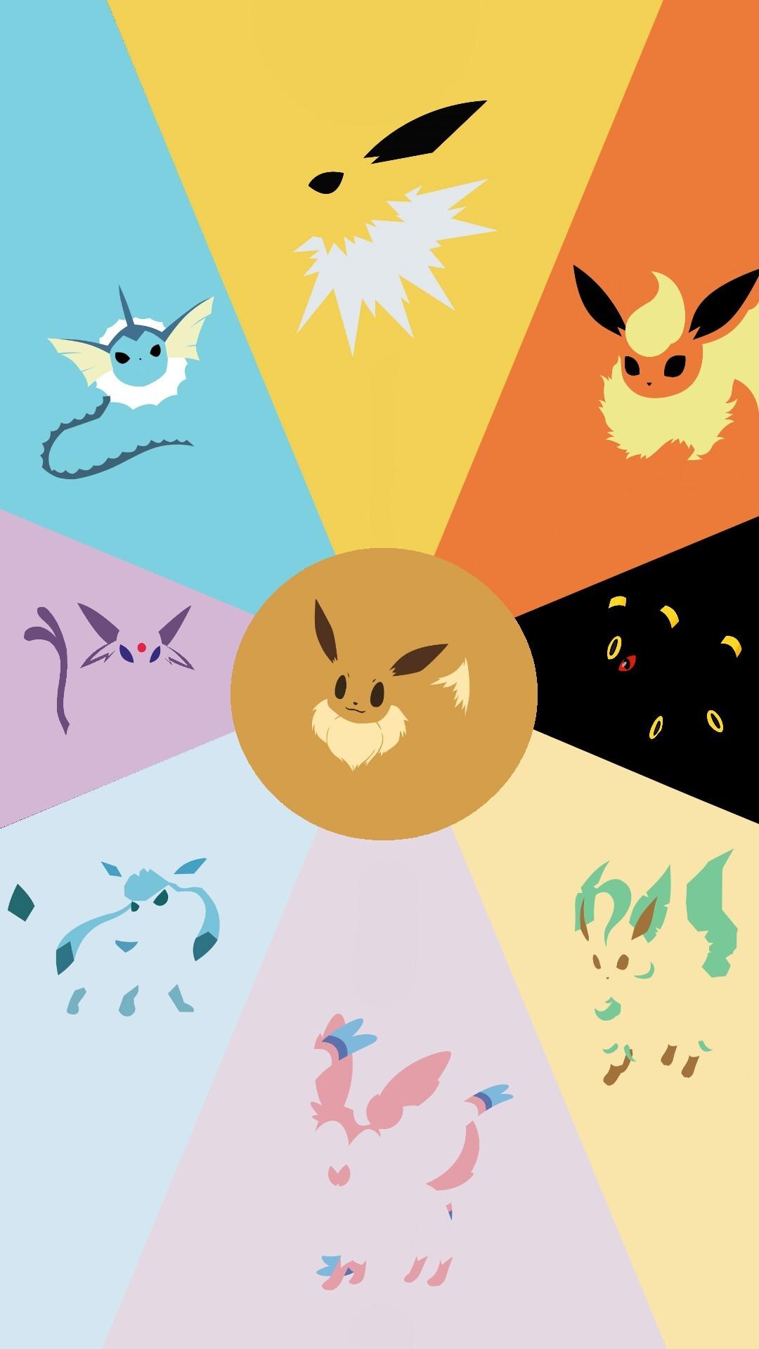 pokemon the Cute Eevee evolutions iphone case
