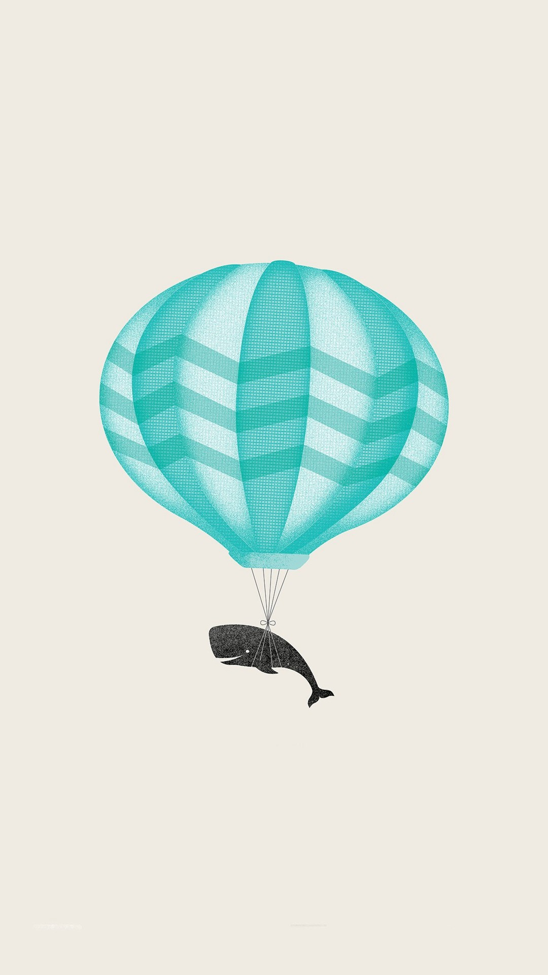 1080x1920 Cute llustration Whale Balloon Art #iPhone #6 #plus #wallpaper