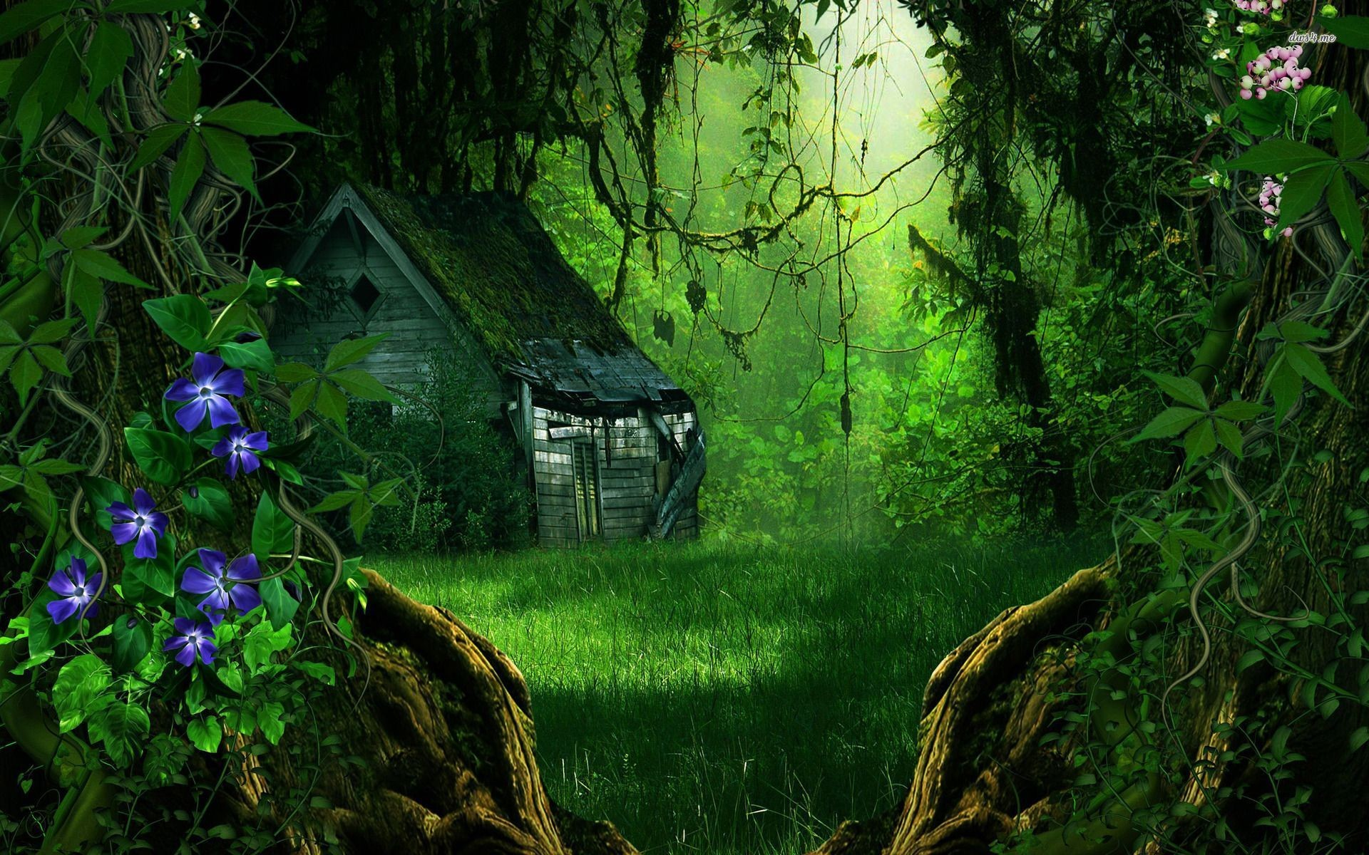 1920x1200 Abandoned house in the forest wallpaper - Fantasy wallpapers - #18774
