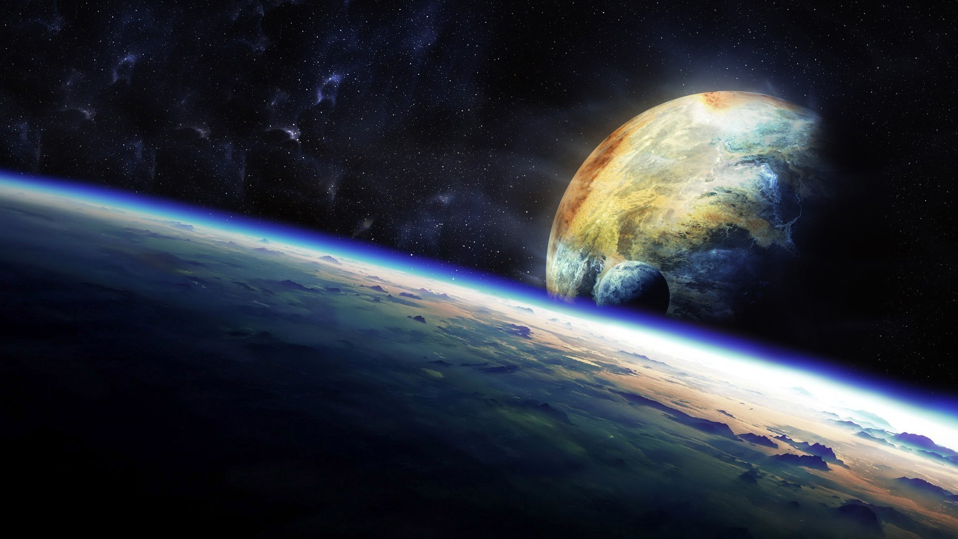 Earth from space wallpaper 65 images for Sfondi spazio hd